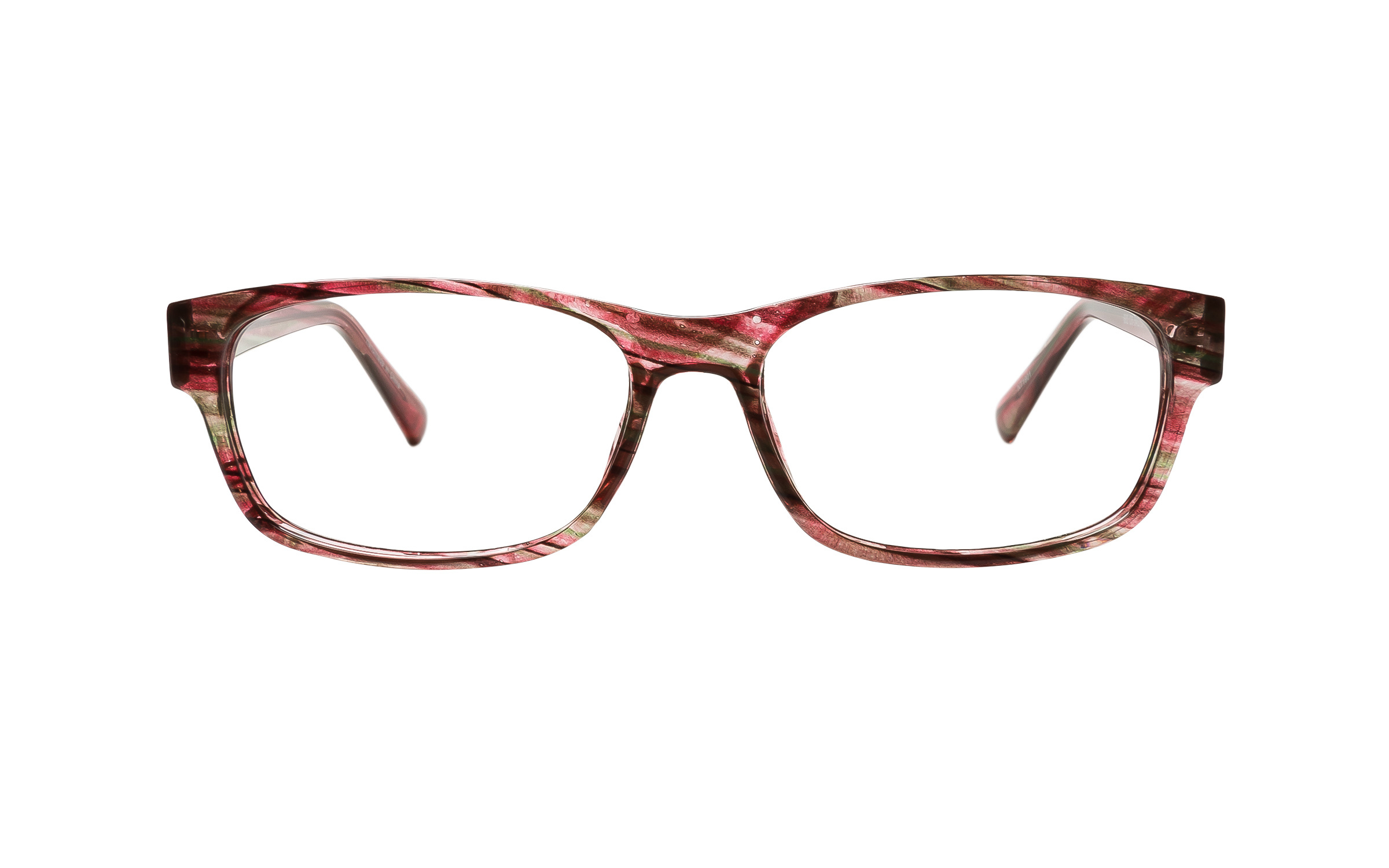 Clearly Basics Englee 682 C6 (54) Eyeglasses and Frame in Stripe Red | Plastic - Online Coastal