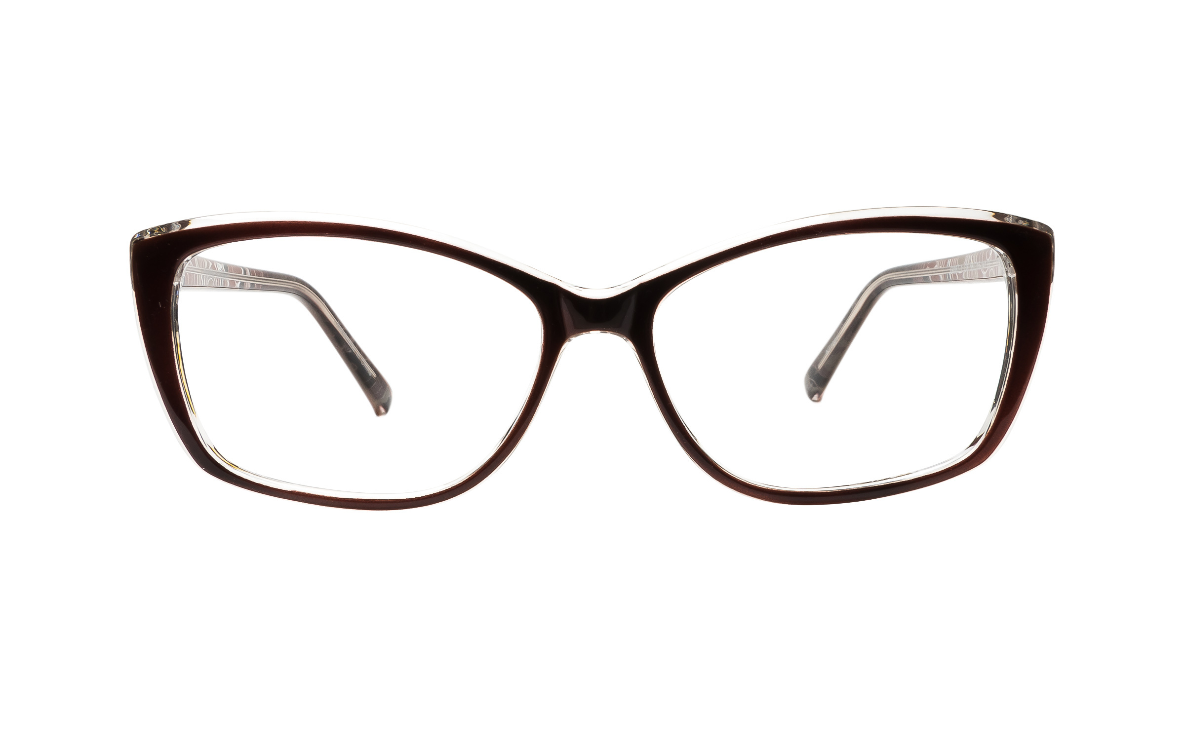 Clearly Basics Pond Inlet G087-1 C6 (56) Eyeglasses and Frame in Brown | Plastic