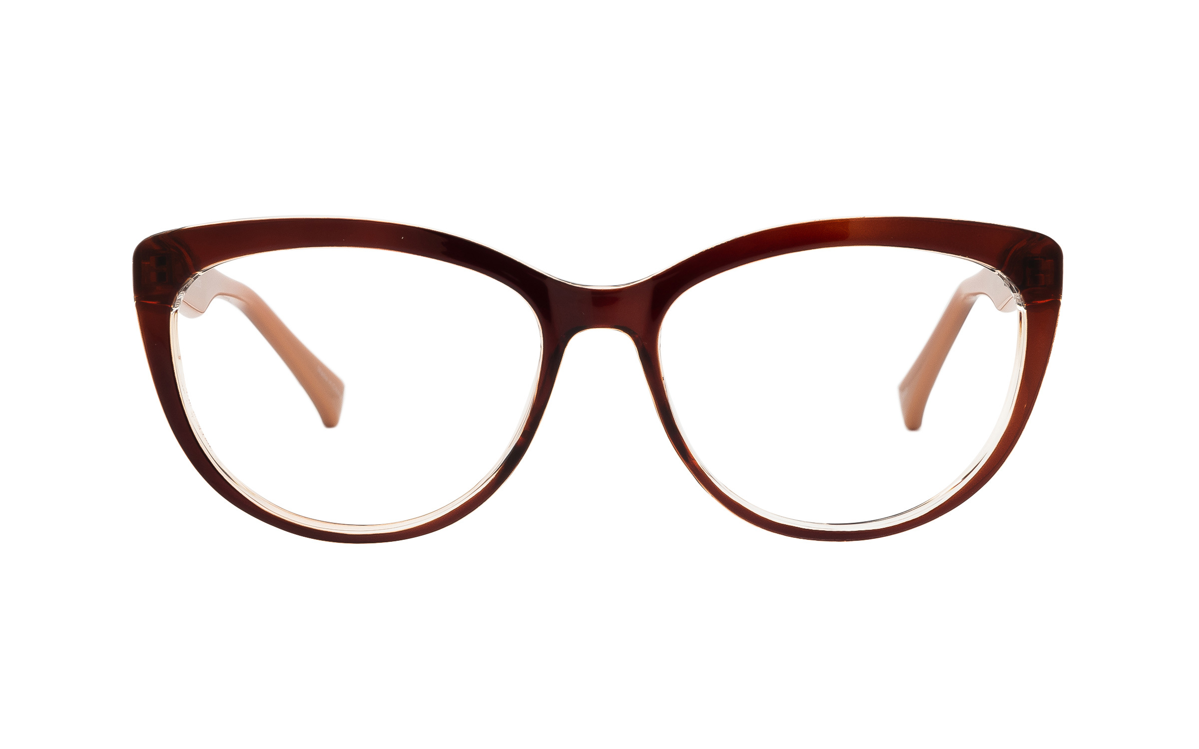 Clearly Basics Howley COL131 C02 (54) Eyeglasses and Frame in Brown - Online Coastal