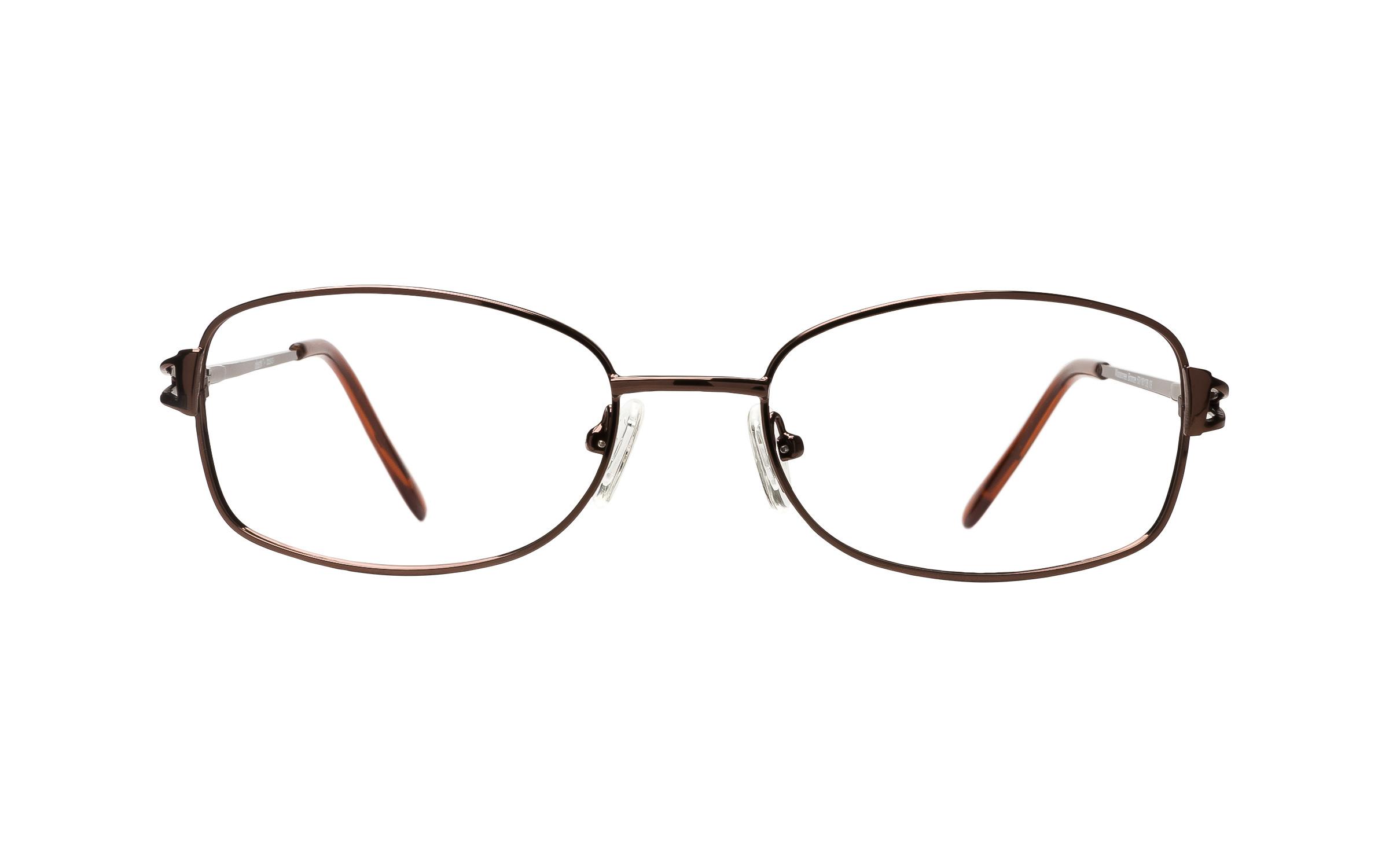 Clearly Basics Moosonee (52) Eyeglasses and Frame in Bronze Brown | Plastic - Online Coastal