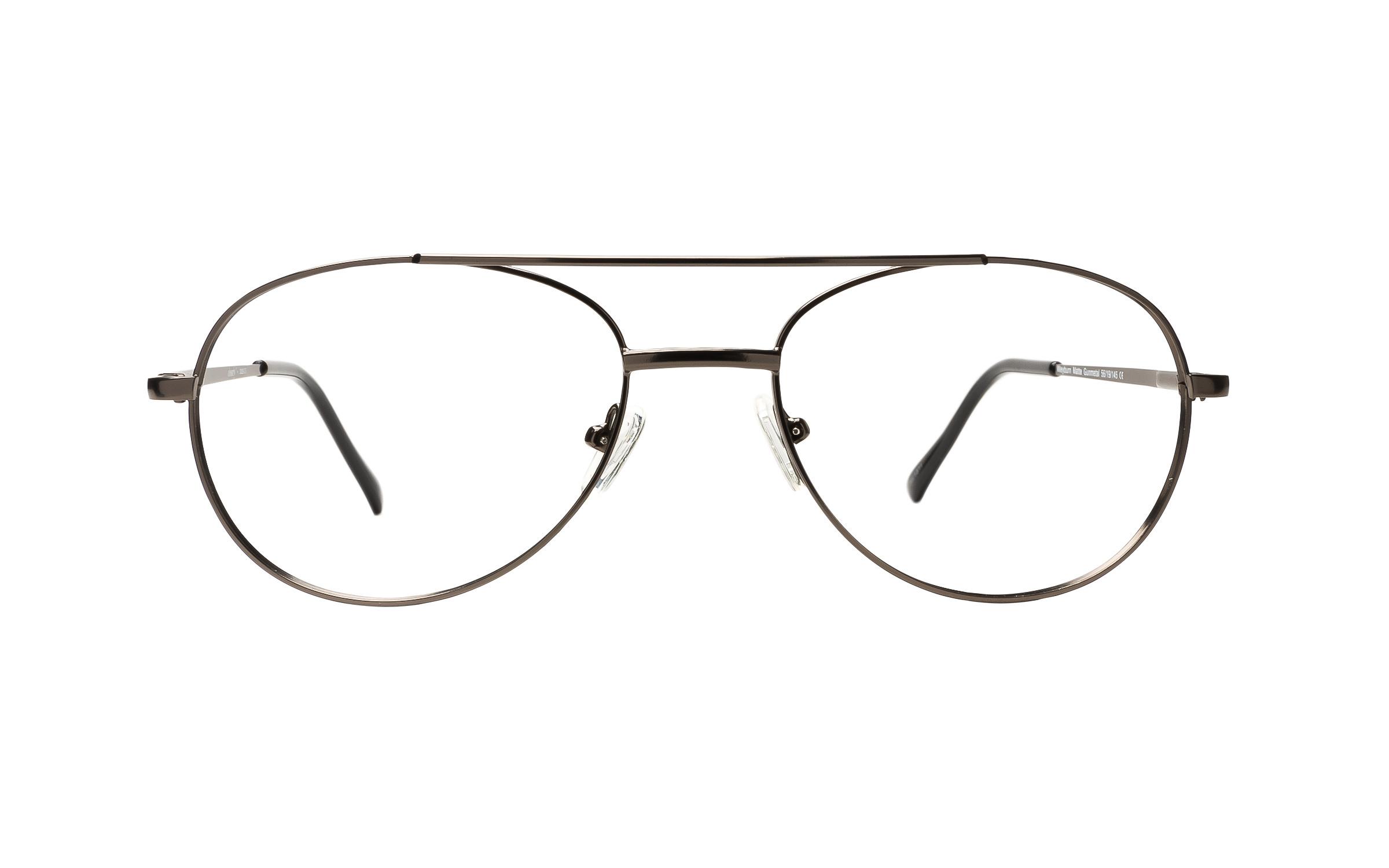 Clearly Basics Weyburn (56) Eyeglasses and Frame in Matte Gunmetal Grey | Plastic - Online