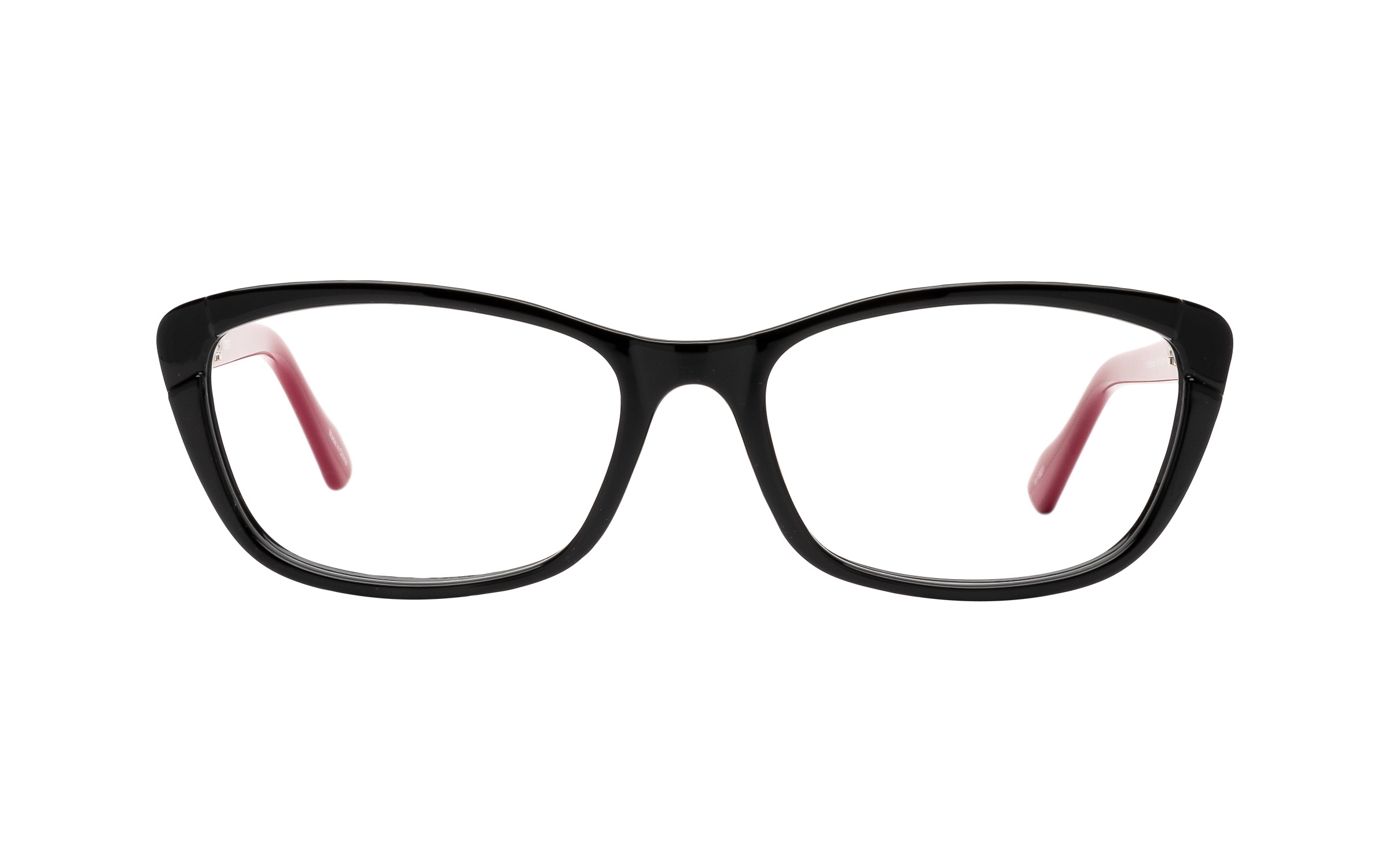 Clearly Basics Woodstock CLS012 C02 (54) Eyeglasses and Frame in Shiny Black | Plastic - Online Coastal
