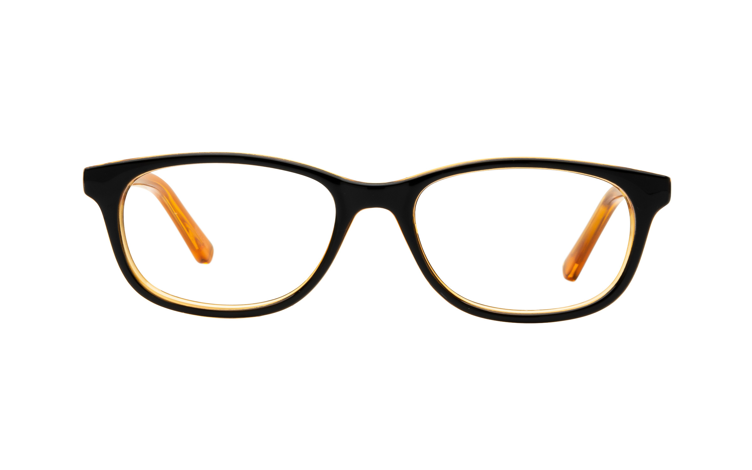 ClearlyBasics Clearly Junior Fawn KID010 C02 (47) Eyeglasses and Frame in Amber Black/Orange | Plastic - Online Coastal
