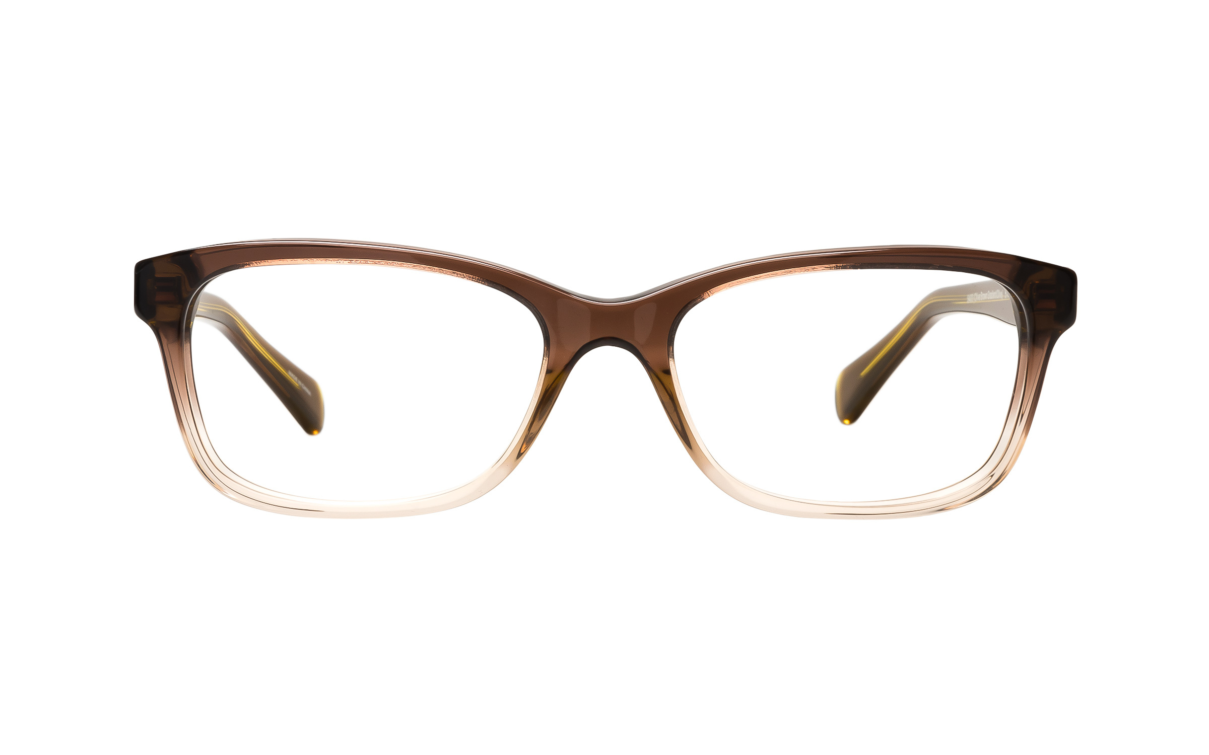 Coach Women's Brown/Green/Clear Glasses - Clearly Glasses Online