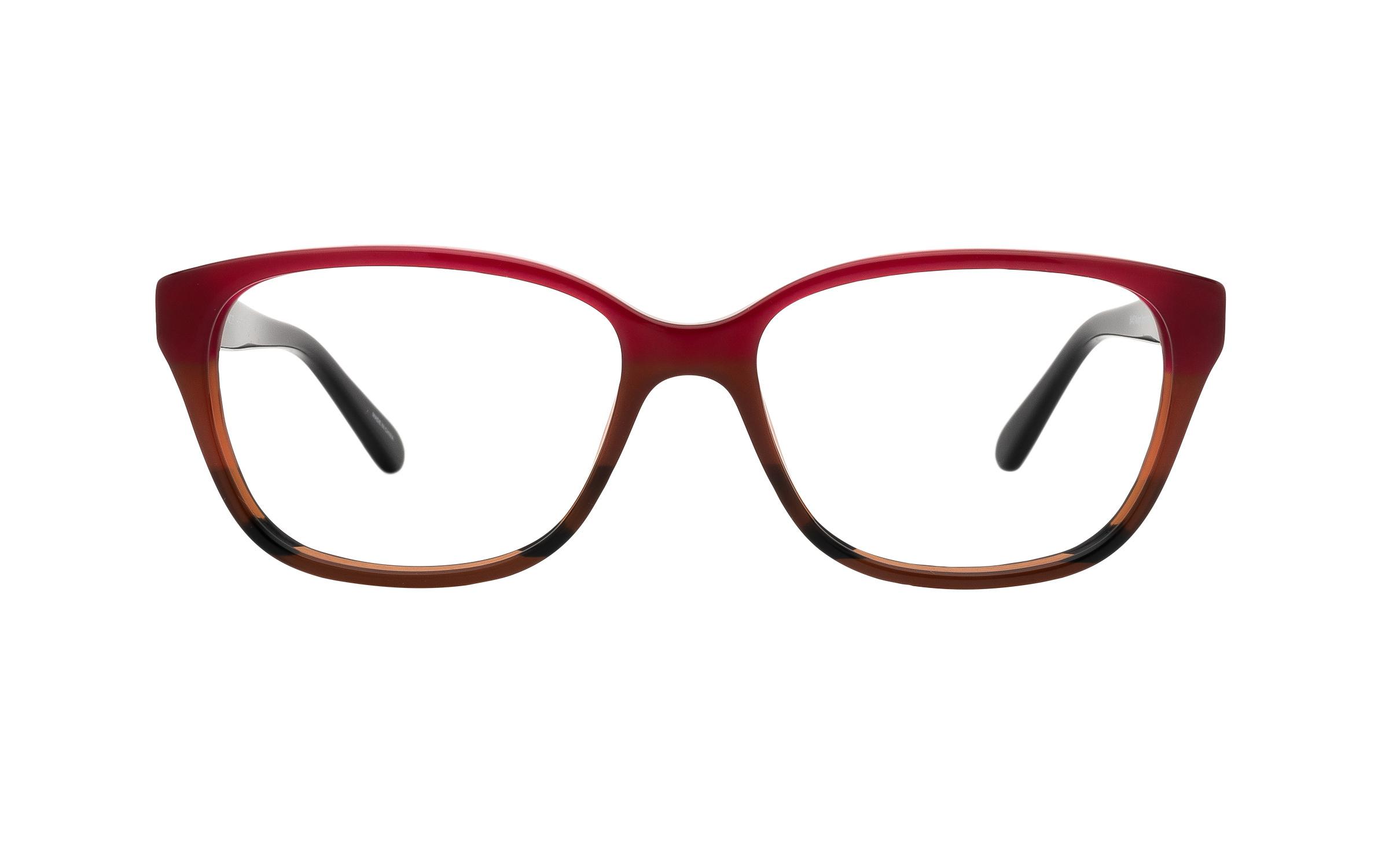 coastal.com - Coach HC6103 5445 (54) Eyeglasses and Frame in Aubgn Cognac Varsity Stripe Brown/Red – Online Coastal 191.00 USD