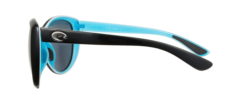product image of Costa La Mar Shiny Black Aqua Grey 580 Polarized