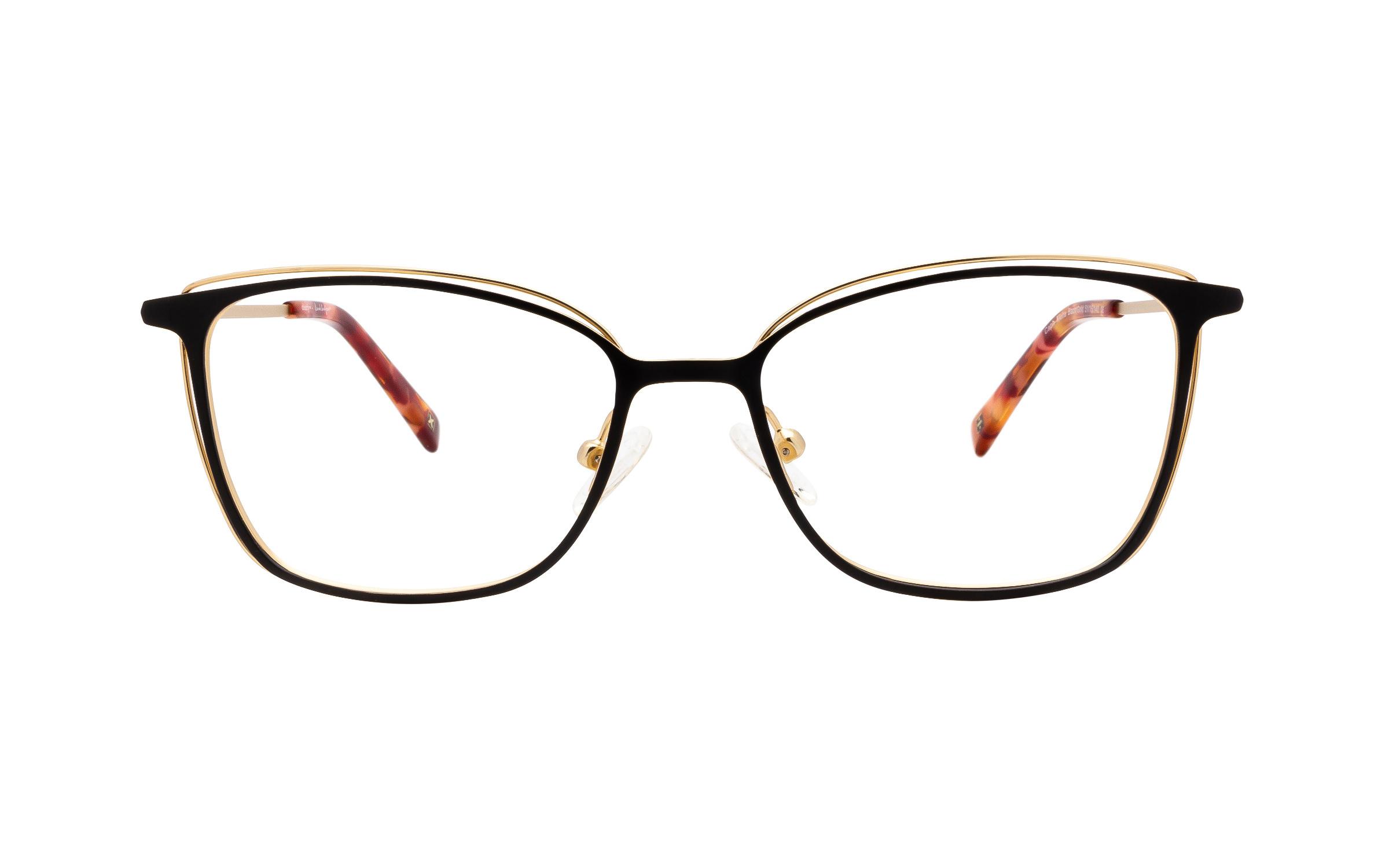 http://www.coastal.com/ - Derek Cardigan Caph DC218 C03 (51) Eyeglasses and Frame in Matte Gold/Black | Metal – Online Coastal