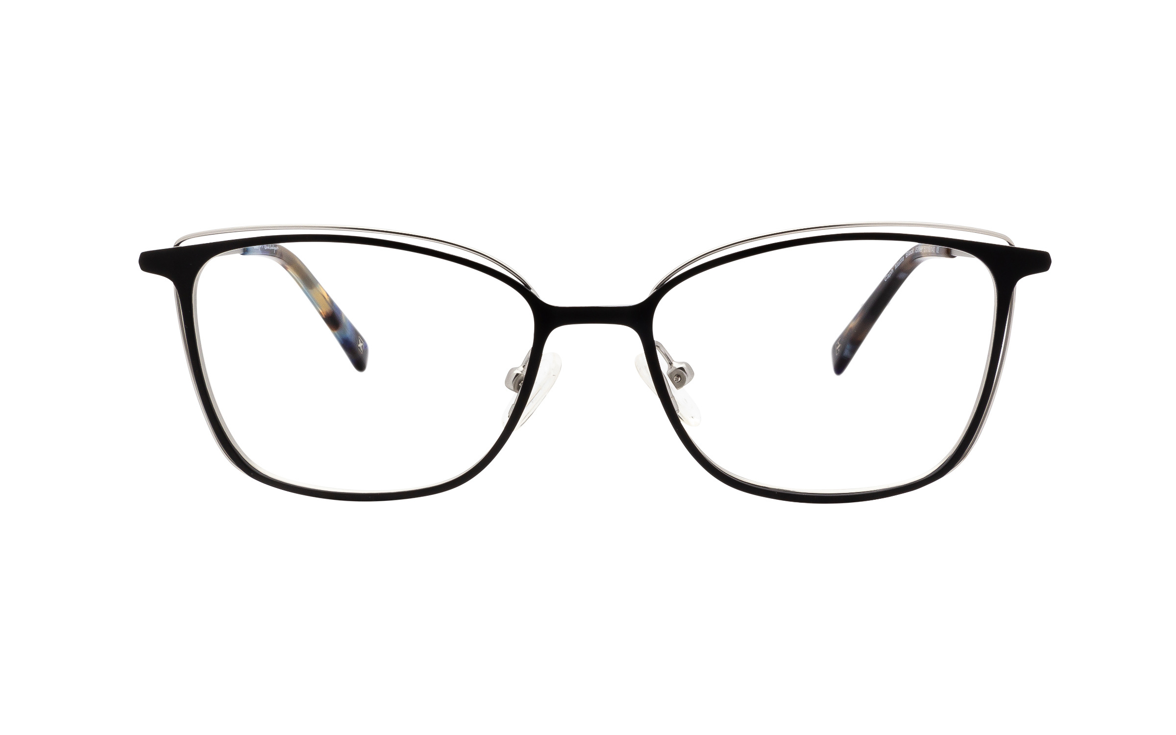 http://www.coastal.com/ - Derek Cardigan Caph DC218 C02 (51) Eyeglasses and Frame in Matte Satin Silver/Black | Metal – Online Coastal