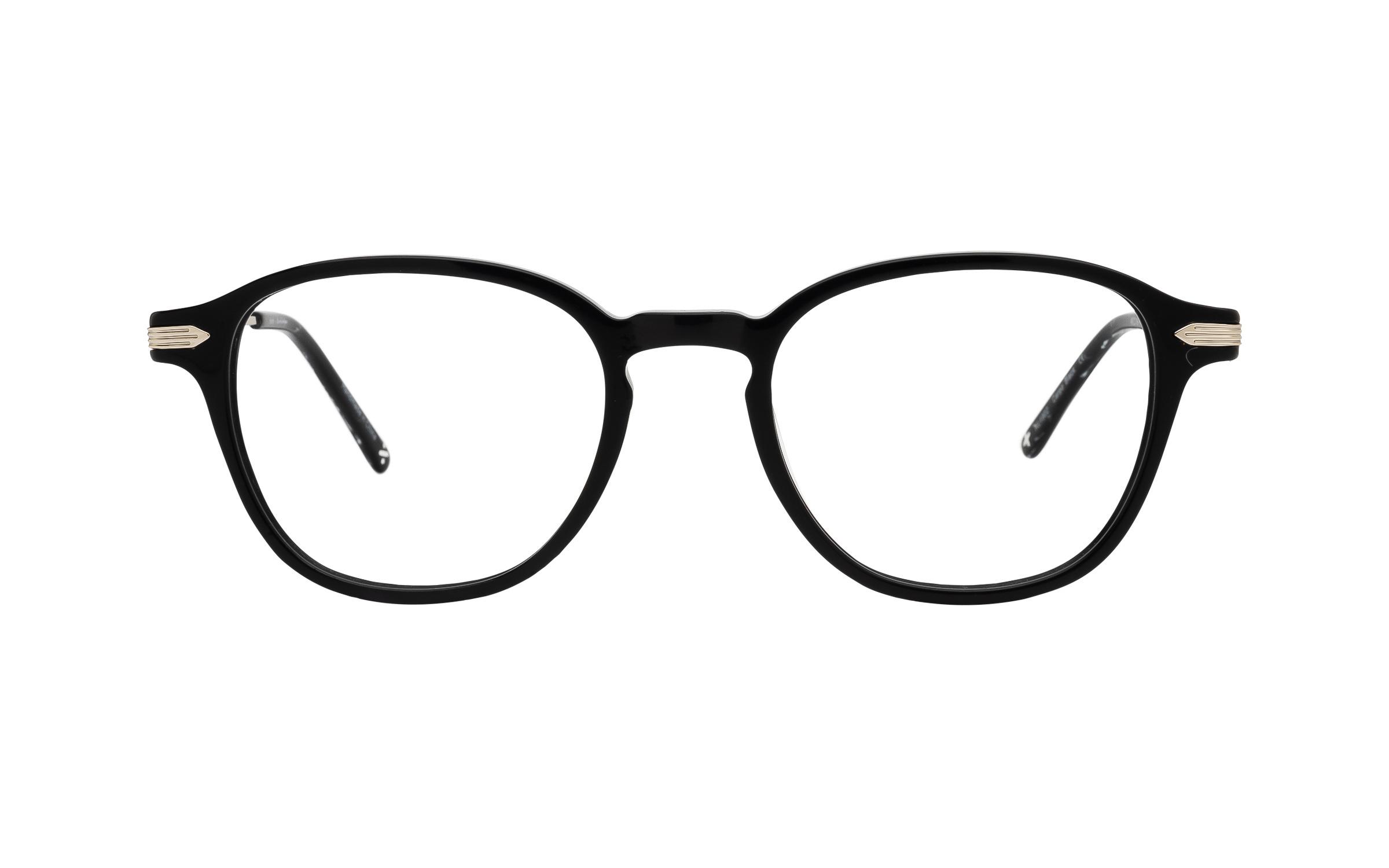 coastal.com - Derek Cardigan Carpo (49) Eyeglasses and Frame in Black | Acetate/Metal – Online Coastal 55.00 USD