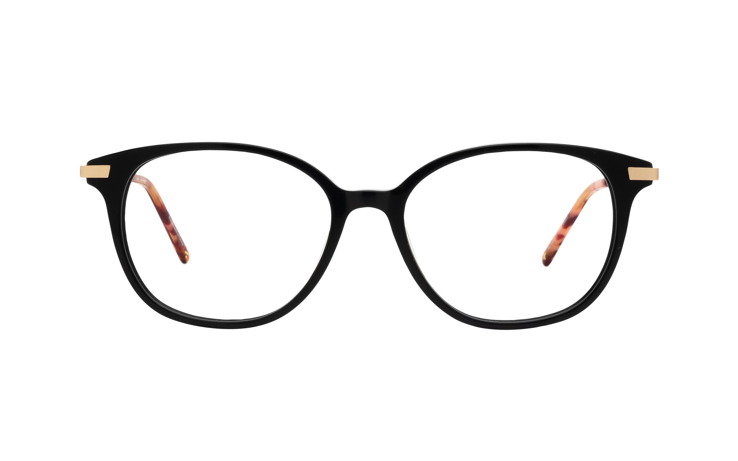 coastal.com - Derek Cardigan Kari (53) Eyeglasses and Frame in Black | Acetate/Metal – Online Coastal 55.00 USD