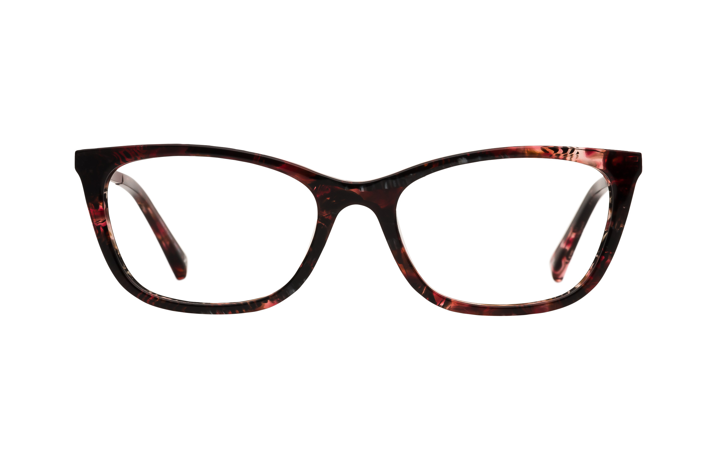 Women's Red D-Frame Derek Cardigan Glasses - Clearly Glasses Online