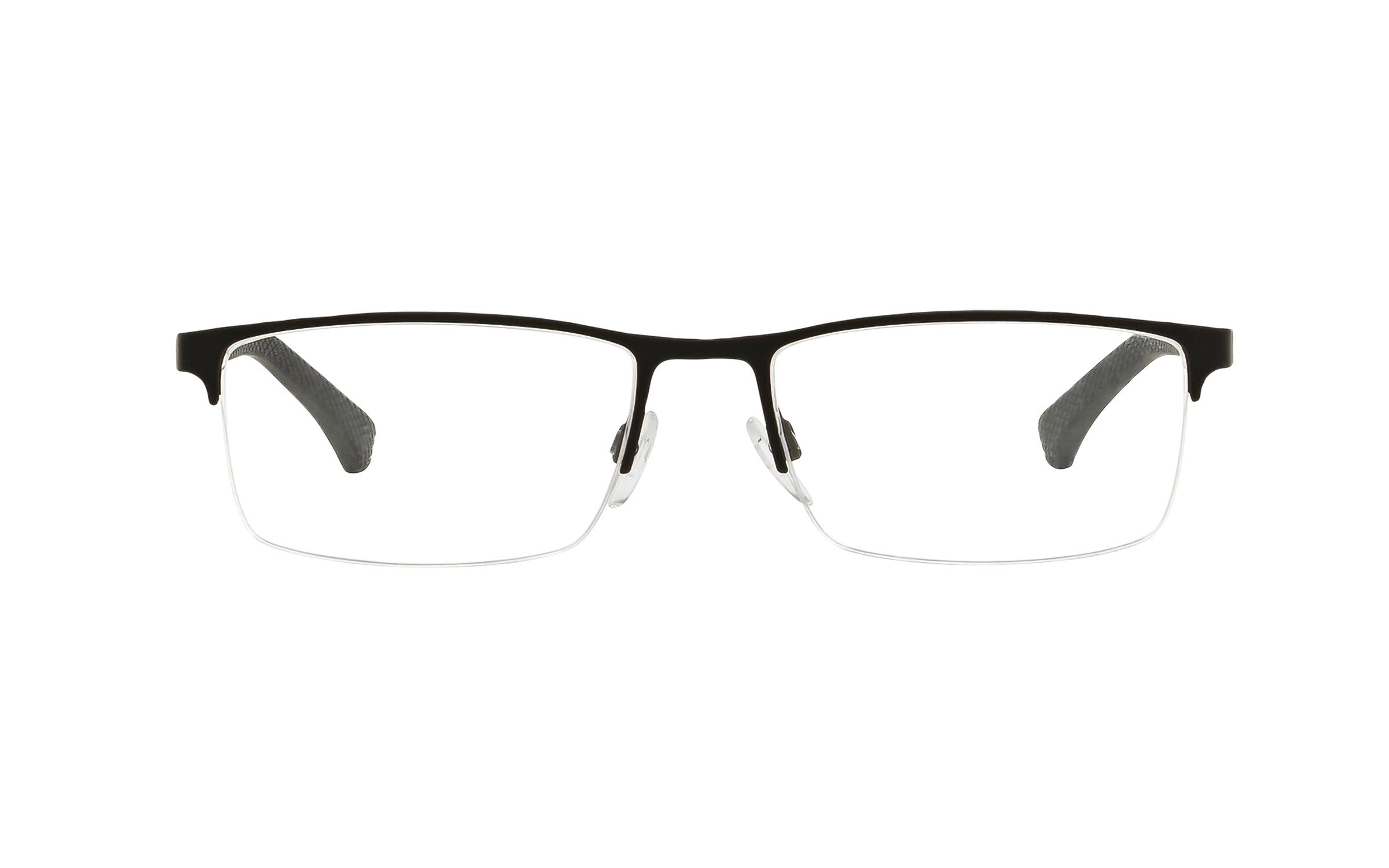 Luxottica Emporio Armani EA1041 3094 (53) Eyeglasses and Frame in Rubber Black | Plastic - Online Coastal