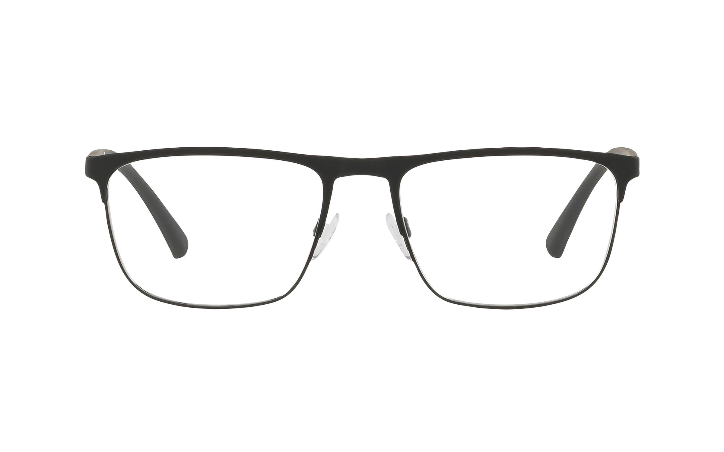 Luxottica Emporio Armani EA1079 3094 (55) Eyeglasses and Frame in Rubber Black | Plastic/Metal - Online Coastal