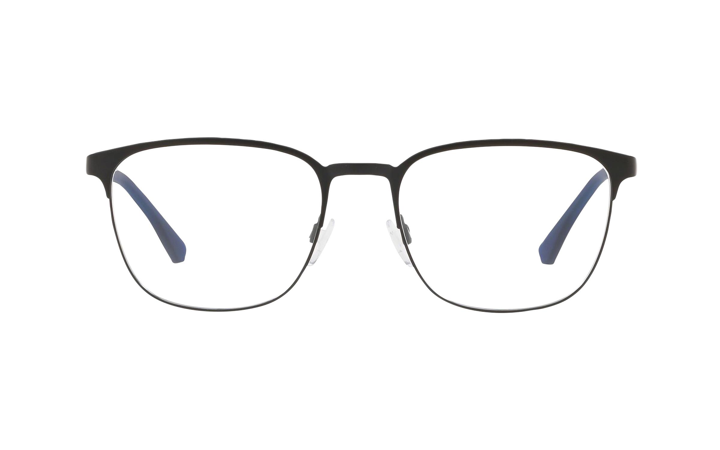 Luxottica Emporio Armani EA1081 3001 (55) Eyeglasses and Frame in Matte Black | Plastic/Metal - Online Coastal