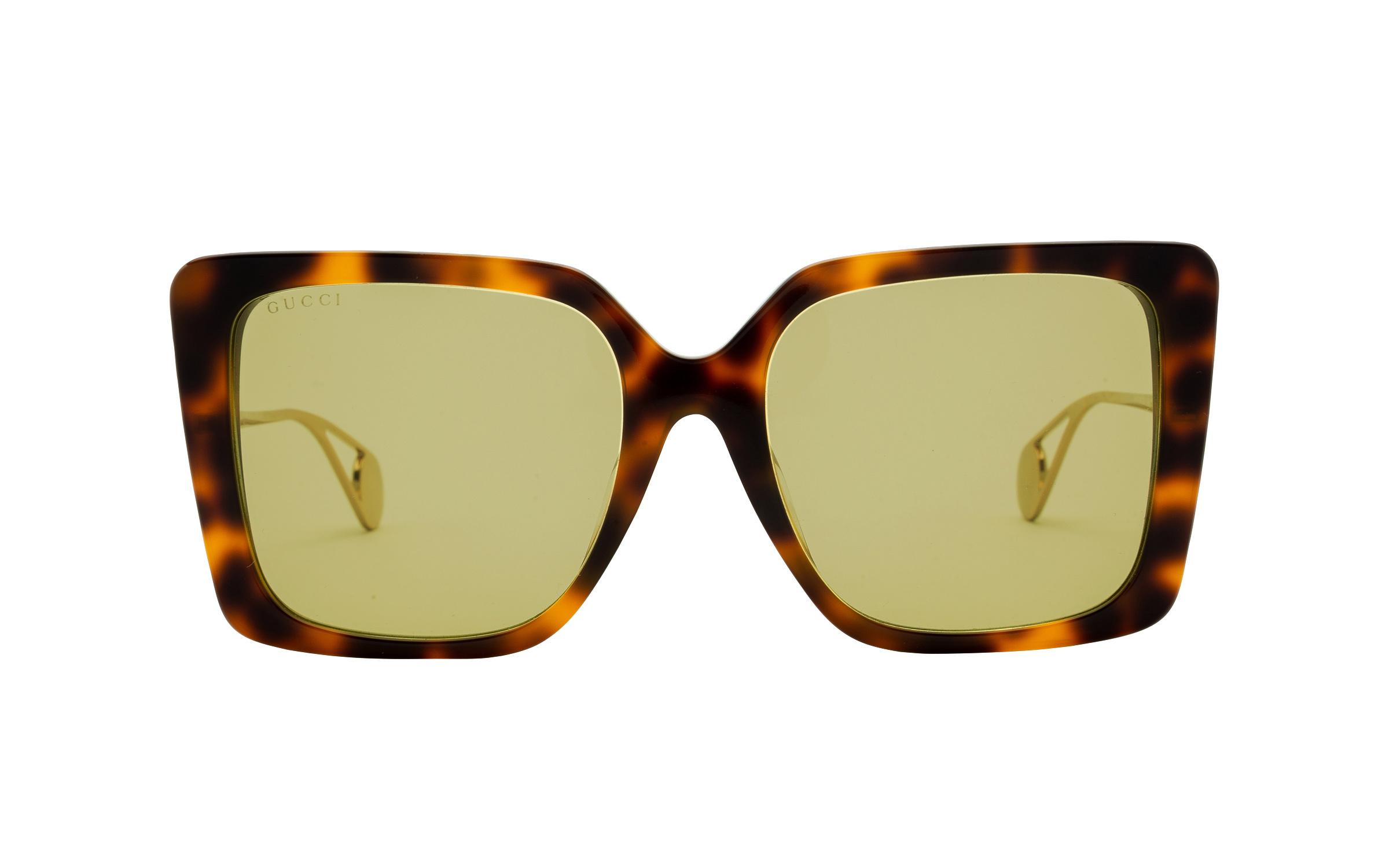 Gucci GG0435SA 002 54 Sunglasses in Havana Tortoise | Acetate