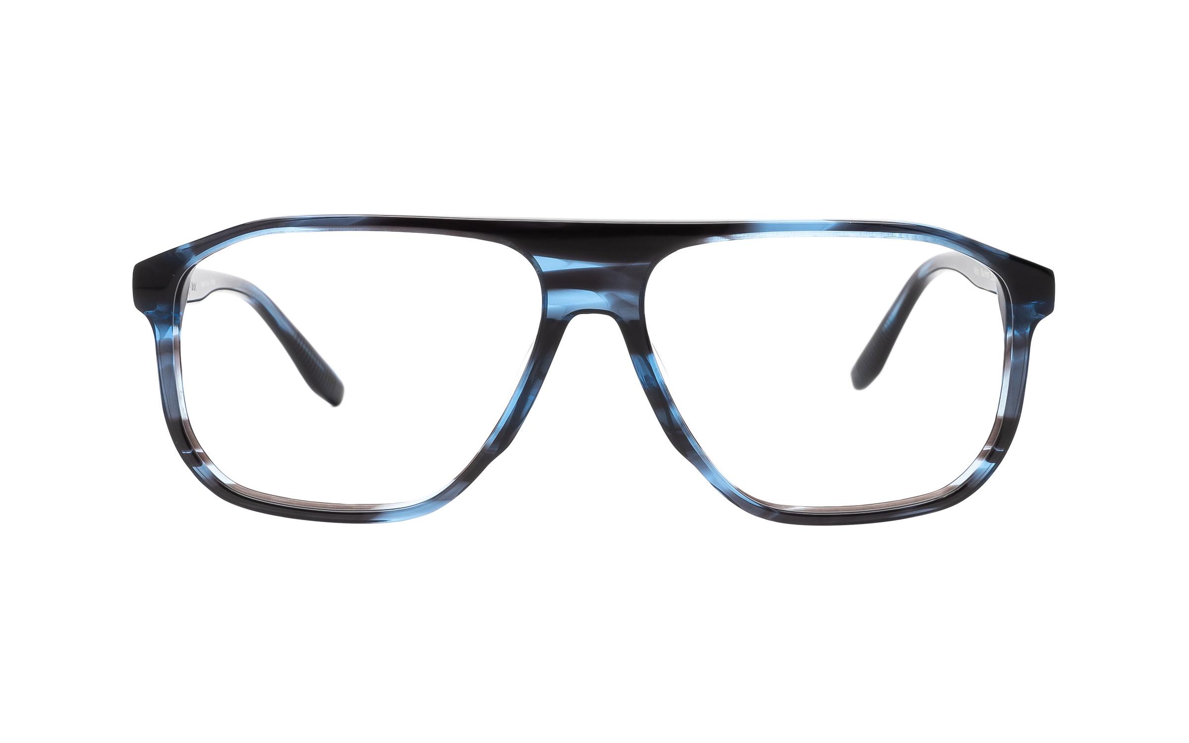 Joseph Marc Men's Kirby (55) Eyeglasses and Frame in Blue Horn