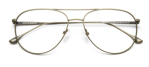 3b48bd3a79 Popular Gold Accent Glasses. product image of Joseph Marc Observation-M  Antique Gold