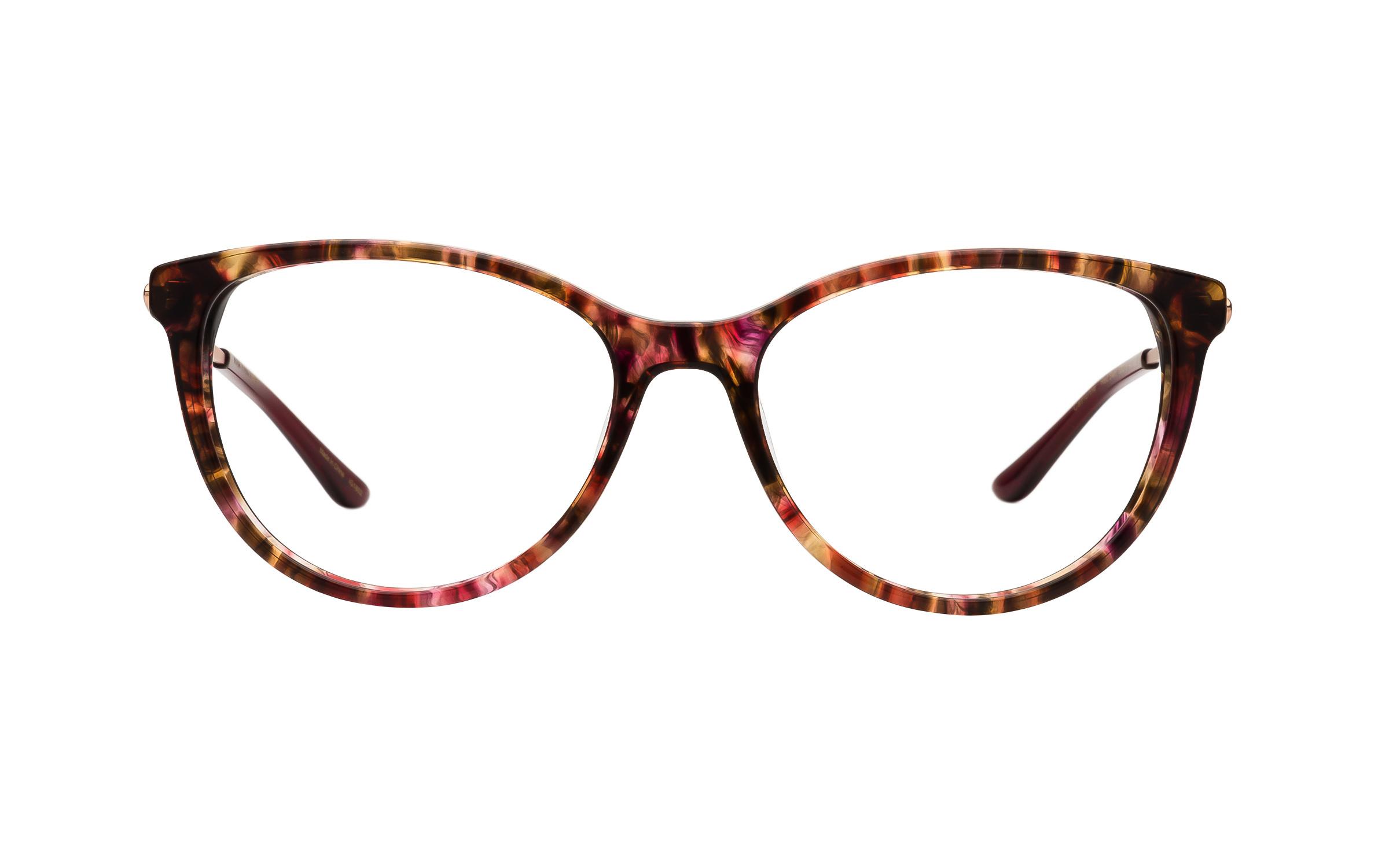Kam Dhillon Women's Glasses Cat-Eye Tortoise/Red Acetate/Metal Online Clearly