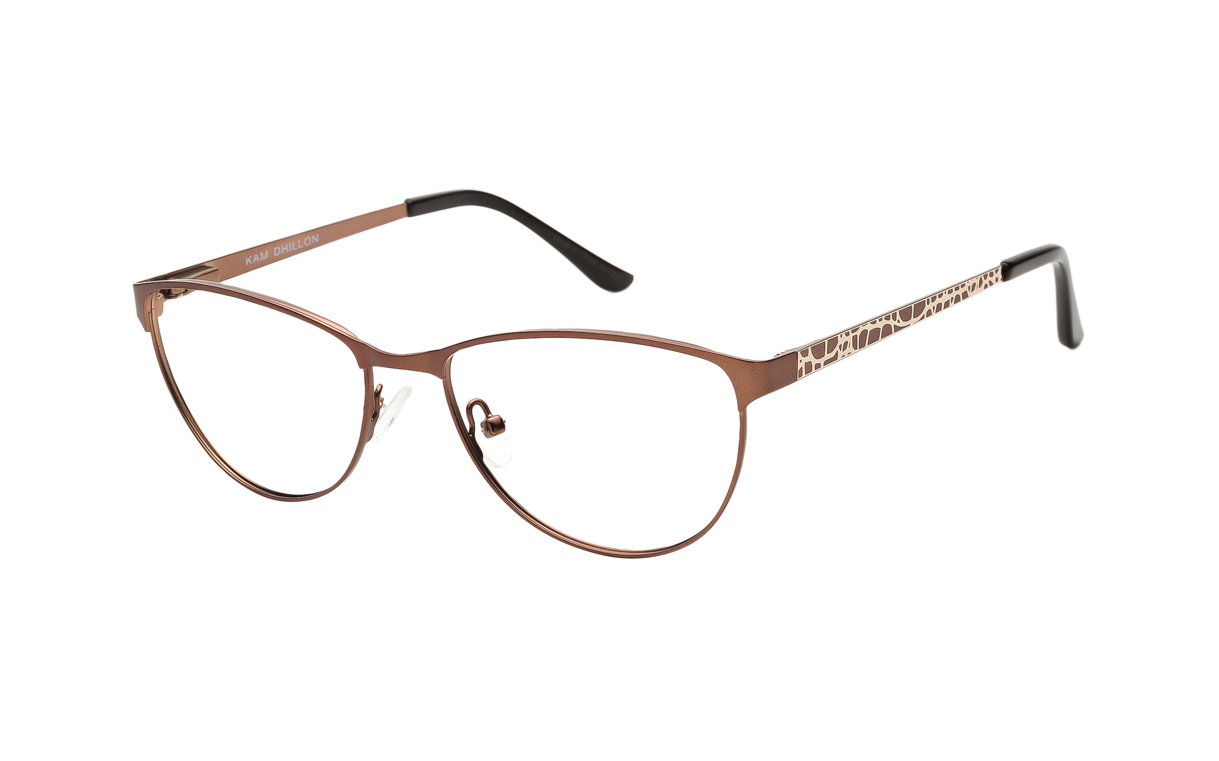 Women's Wing-Tip Glasses Brown Kam Dhillon Online Clearly