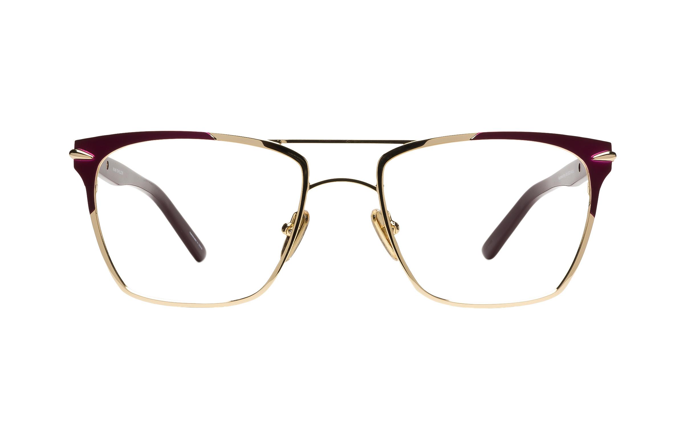 Women's Gold Acetate Aviator Kam Dhillon Glasses - Clearly Glasses Online