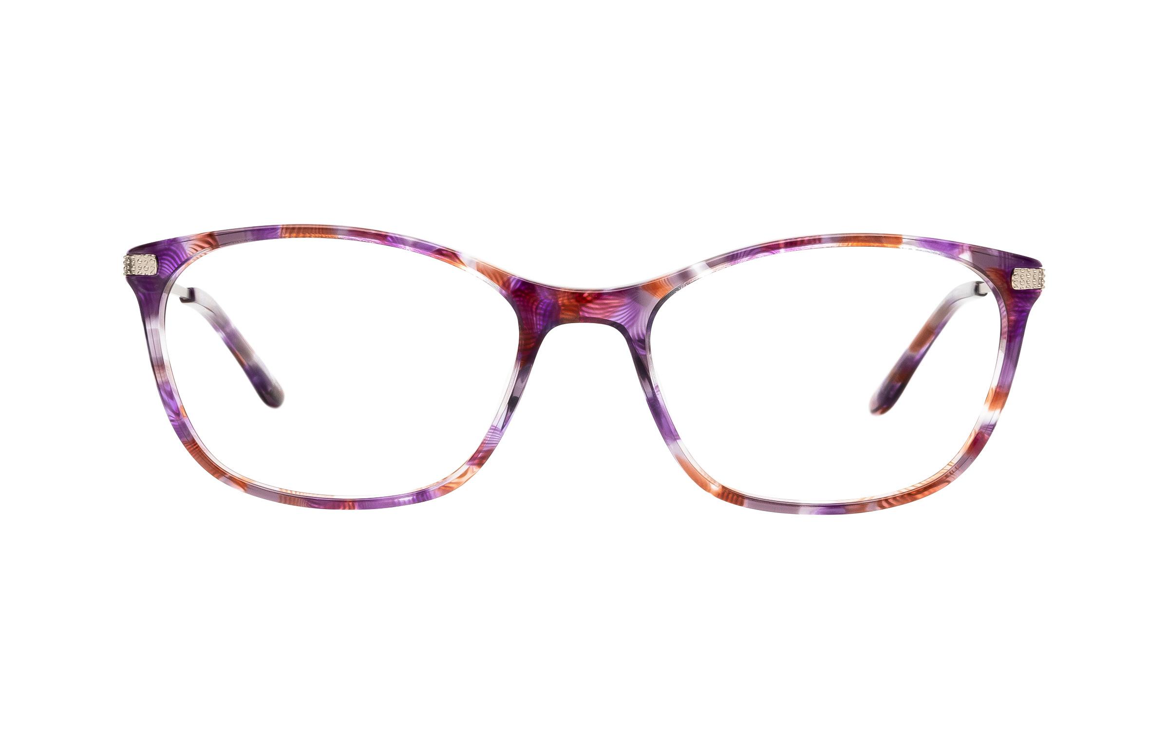 Kam Dhillon Veronica (53) Eyeglasses and Frame in Purple Havana Tortoise/Purple | Acetate/Metal
