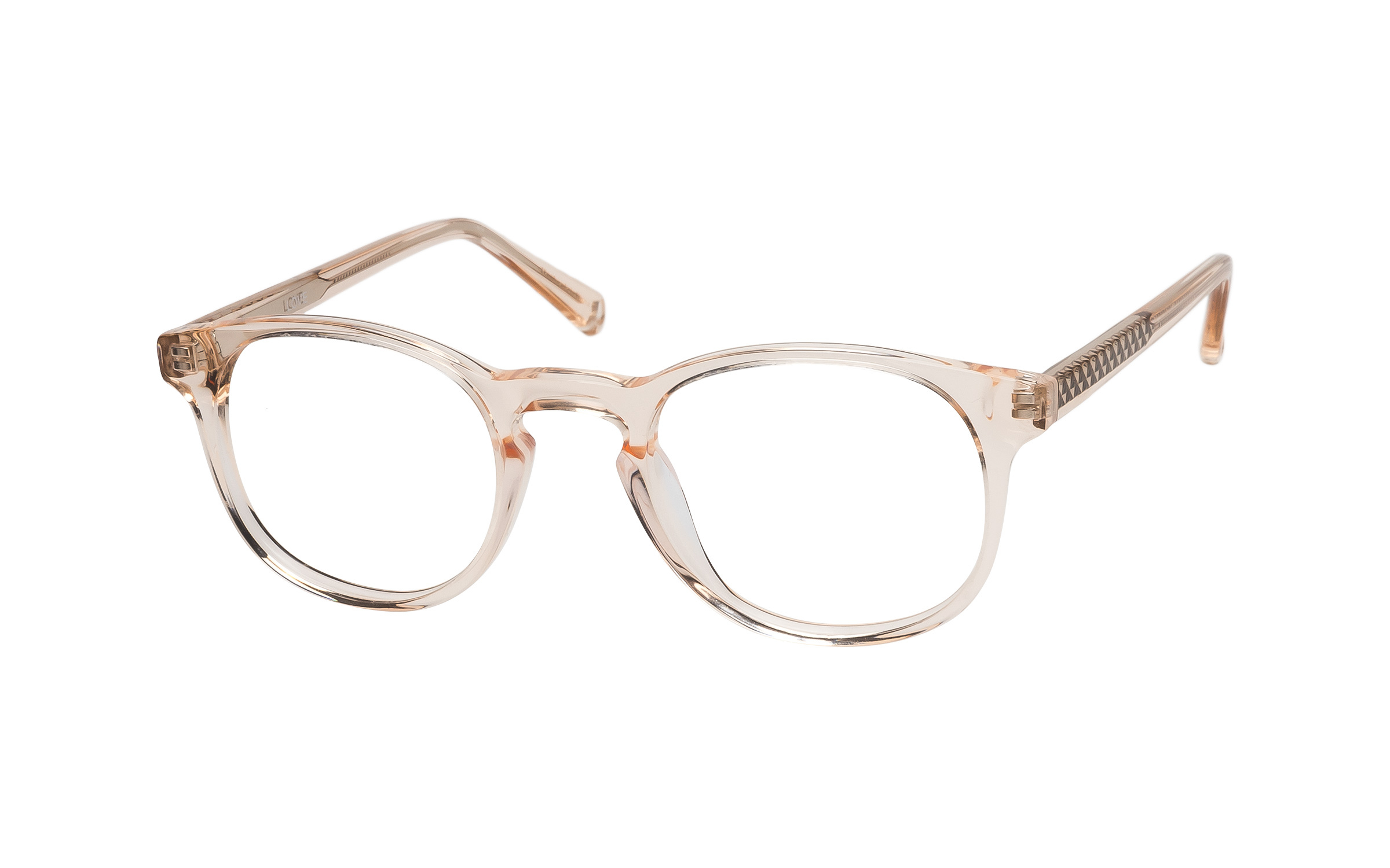 Women's Vintage Glasses Pink/Clear/Beige Love Online Clearly