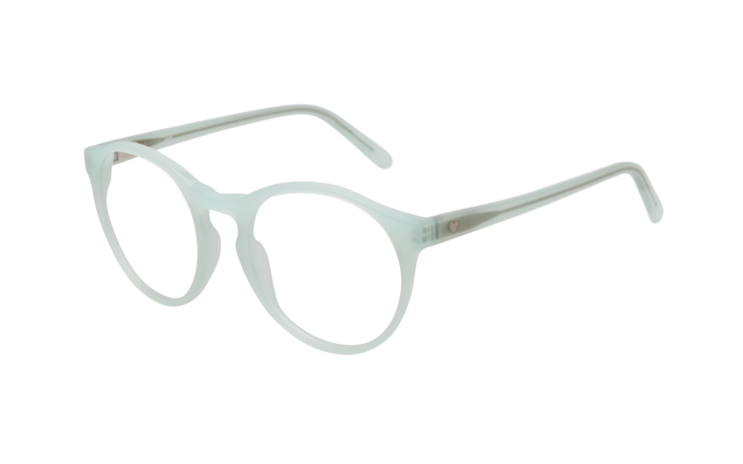 Women's Vintage Glasses Green Love Online Clearly