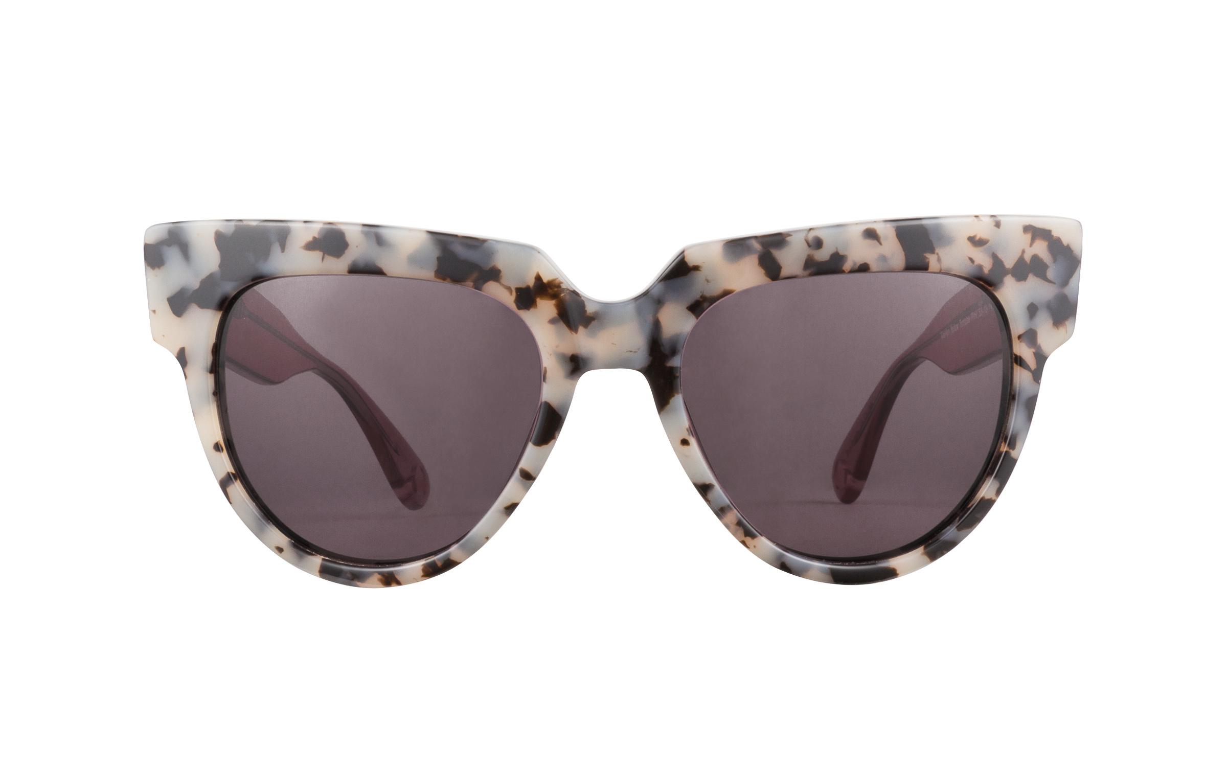 Love Marilyn Sunglasses in Tortoise/White/Pink | Plastic - Online Coastal