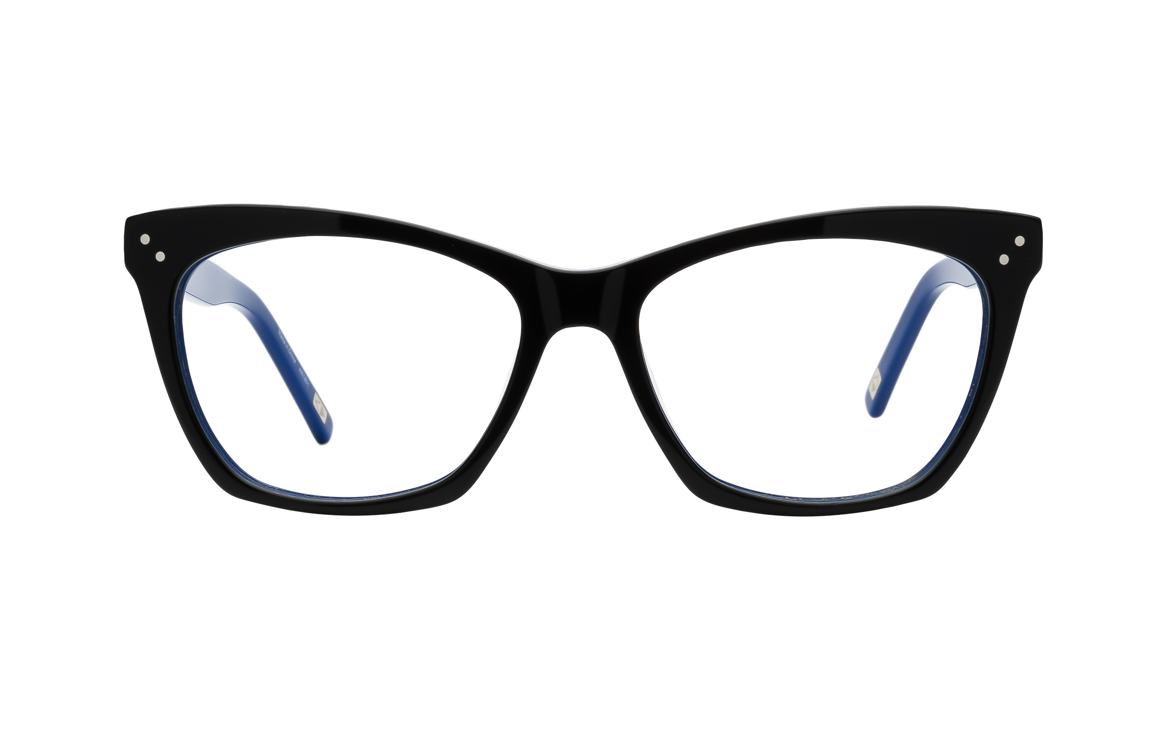 Women's Cat-Eye Glasses Black/Blue Main And Central Online Clearly