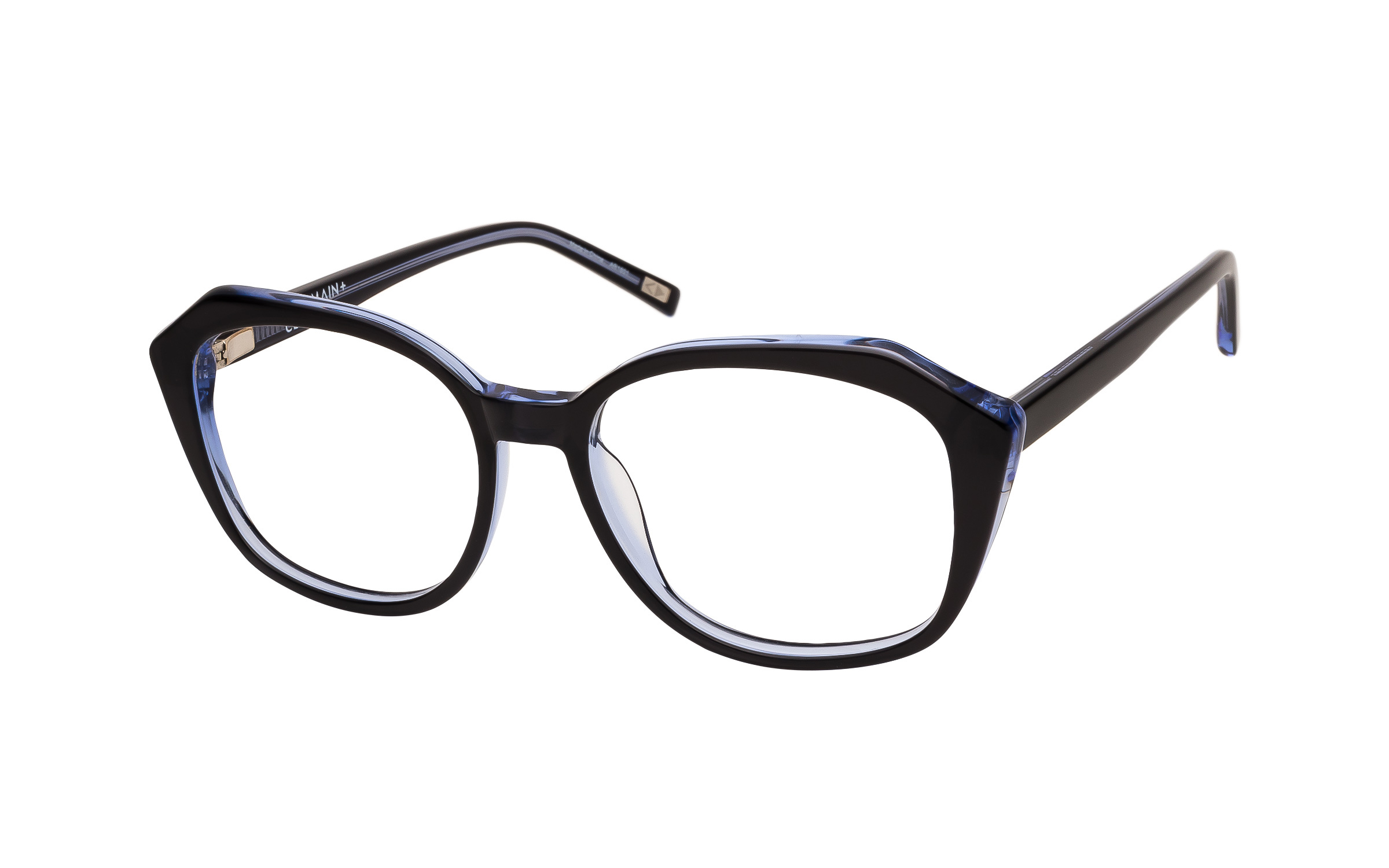 Women's Vintage Glasses Black/Grey Main And Central Online Clearly