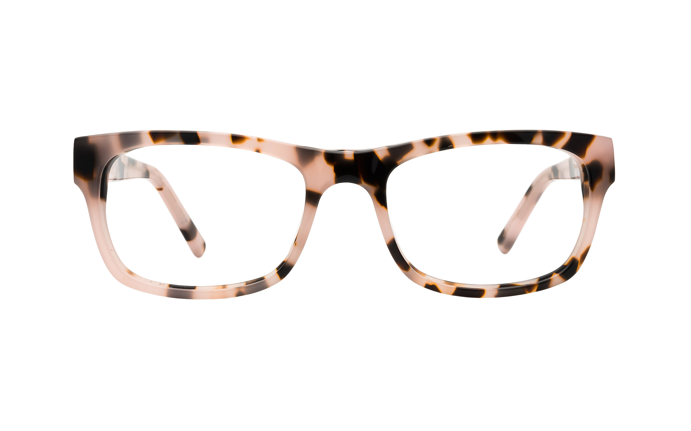 Rectangular Glasses Pink/Tortoise Main And Central Online Clearly