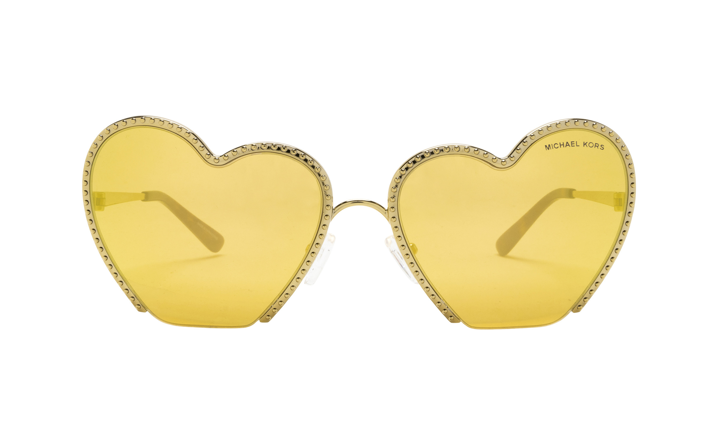 coastal.com - MichaelKors Michael Kors MK1068 Heart Breaker 10147J 60 Sunglasses in Light Gold | Metal – Online Coastal 178.00 USD