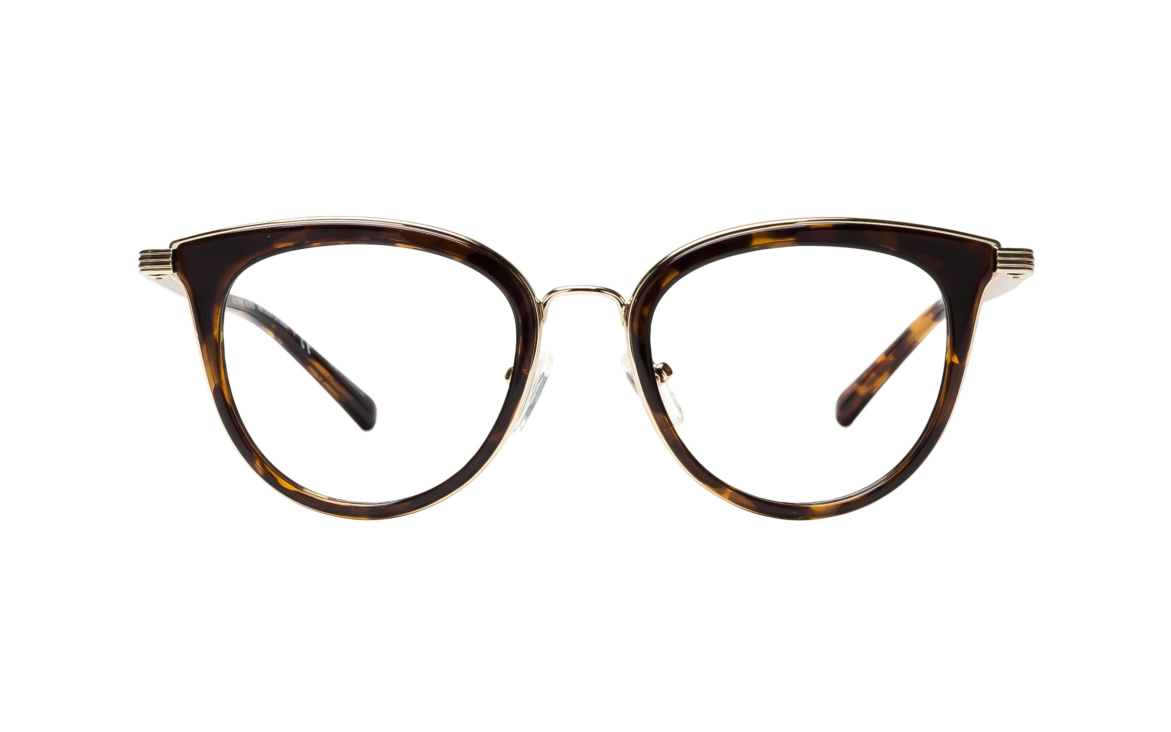 Michael Kors MK3026 3333 (50) Eyeglasses and Frame in Lite Tortoise/Brown/Gold | Plastic/Metal - Online