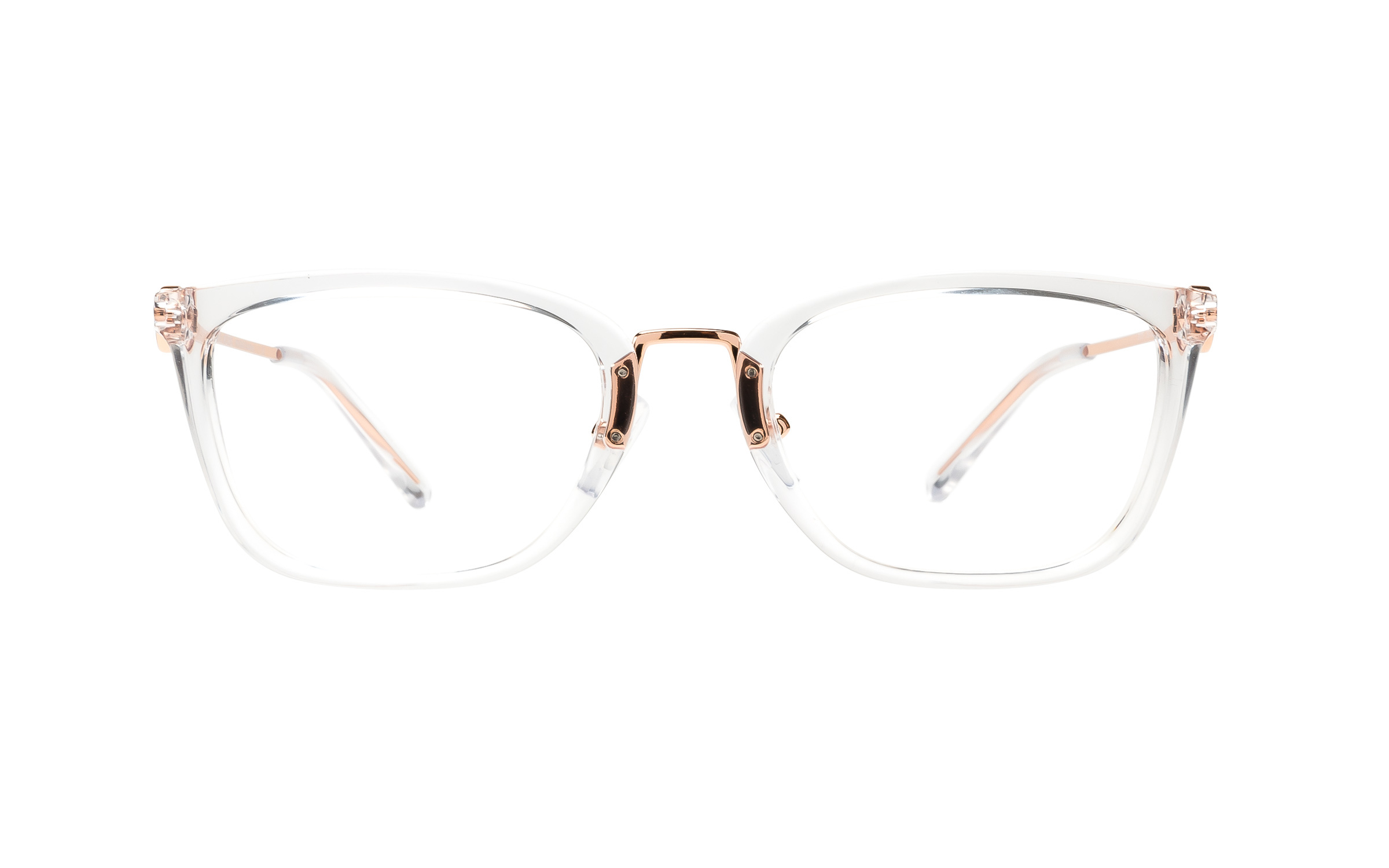 Luxottica Michael Kors MK4054 3105 (52) Eyeglasses and Frame in Crystal Clear Clear/Gold | Acetate/Plastic/Metal - Online