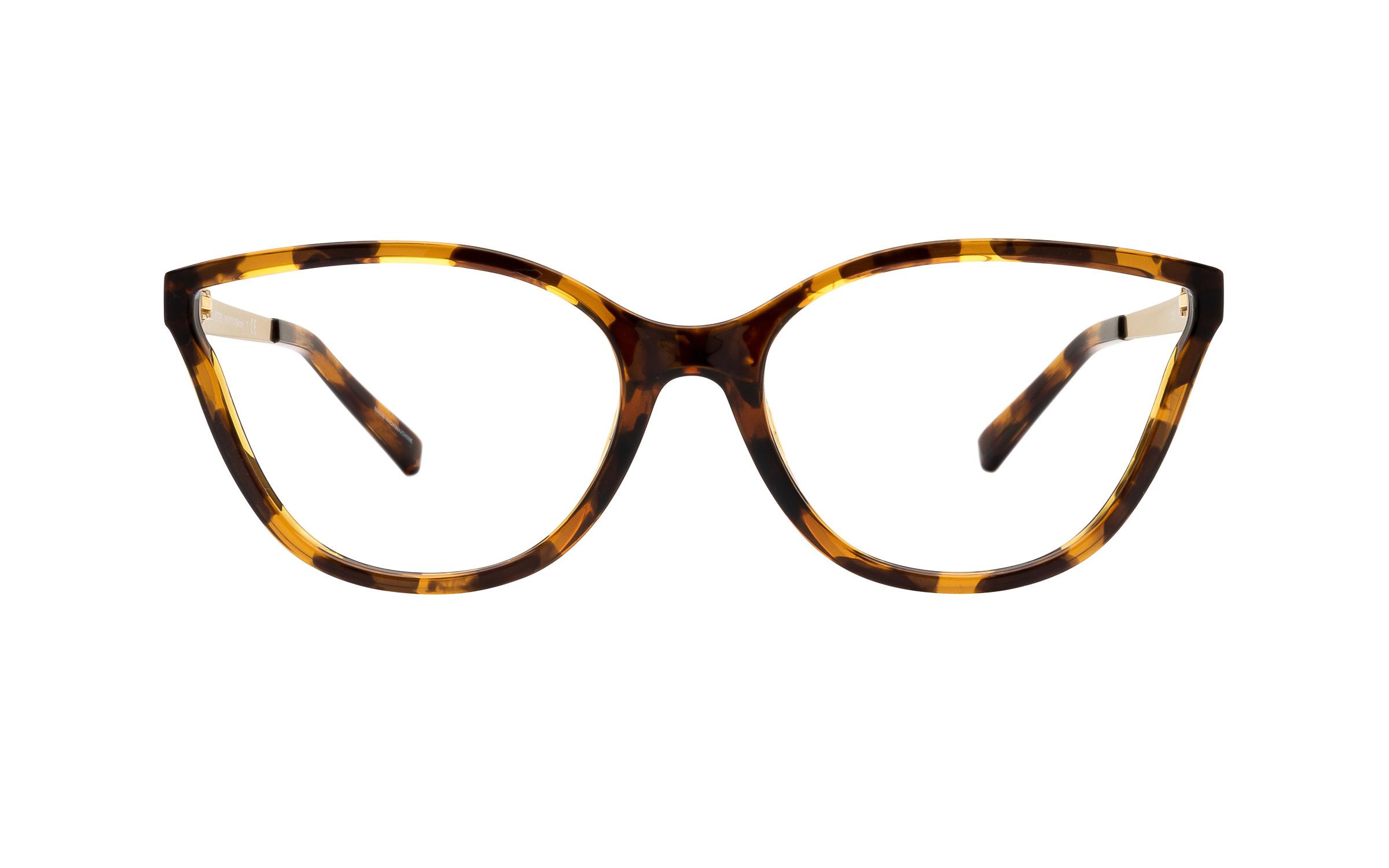 Michael Kors Belize MK4071U 3333 (55) Eyeglasses and Frame in Dark Tortoise | Acetate/Metal - Online Coastal