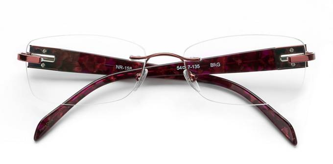 product image of Naturally Rimless NR158 Burgundy