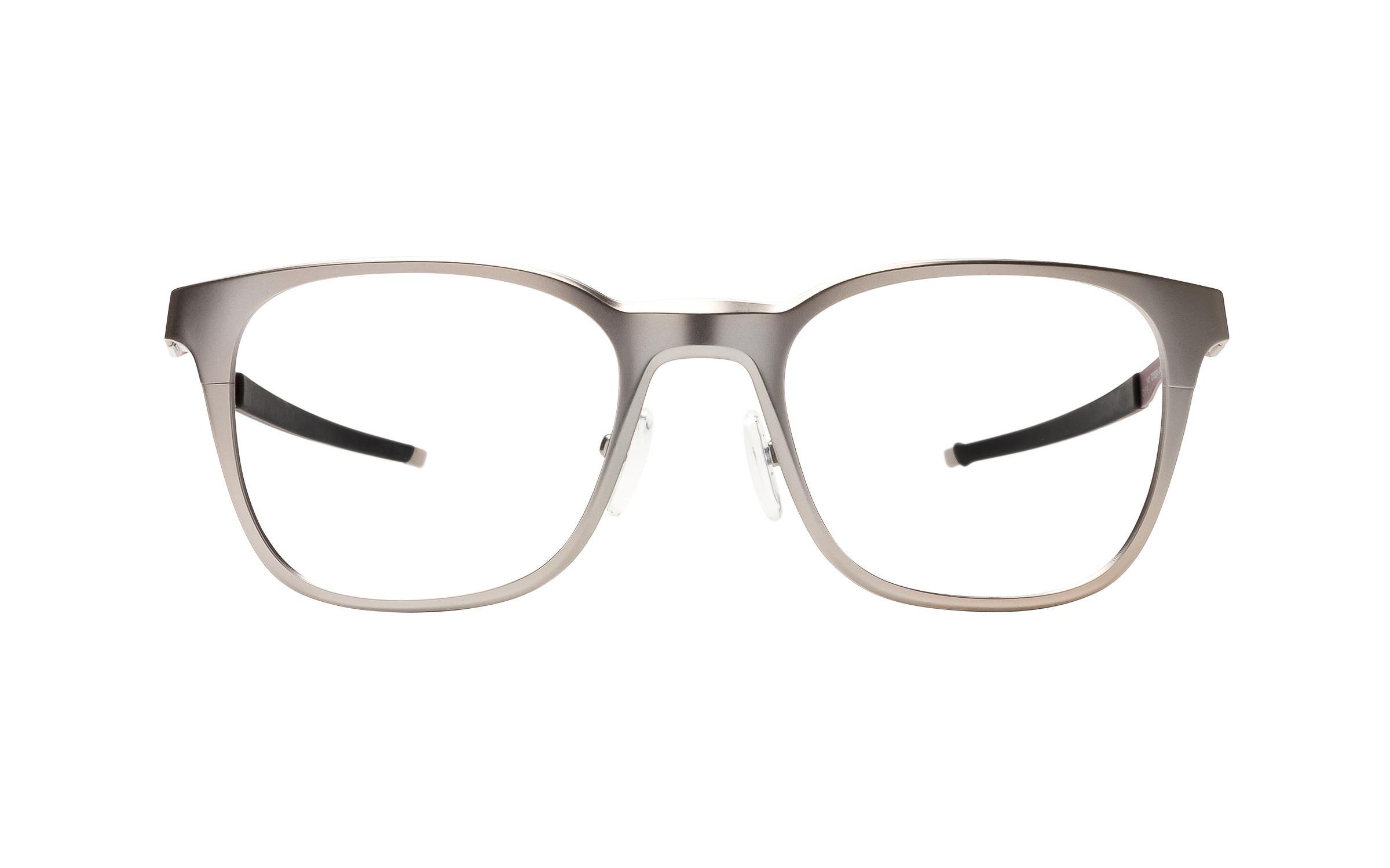 Luxottica Oakley Base Plane R OX3241 0449 (49) Eyeglasses and Frame in Satin Chrome Silver | Plastic/Metal - Online Coastal