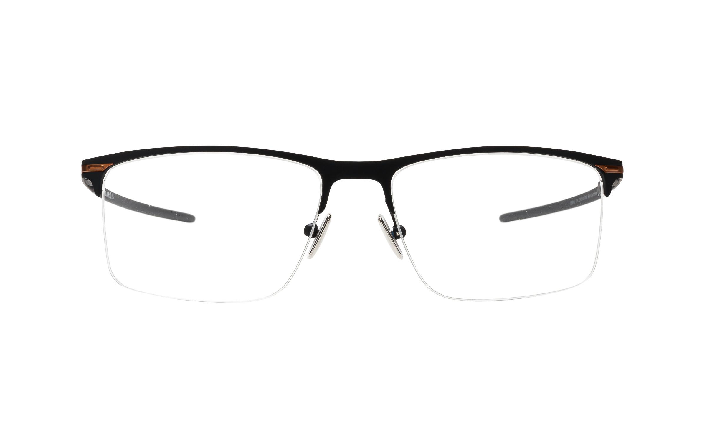 Luxottica Oakley Tie Bar 0.5 OX5140 0354 (54) Eyeglasses and Frame in Satin Light Steel Black | Plastic/Metal - Online Coastal