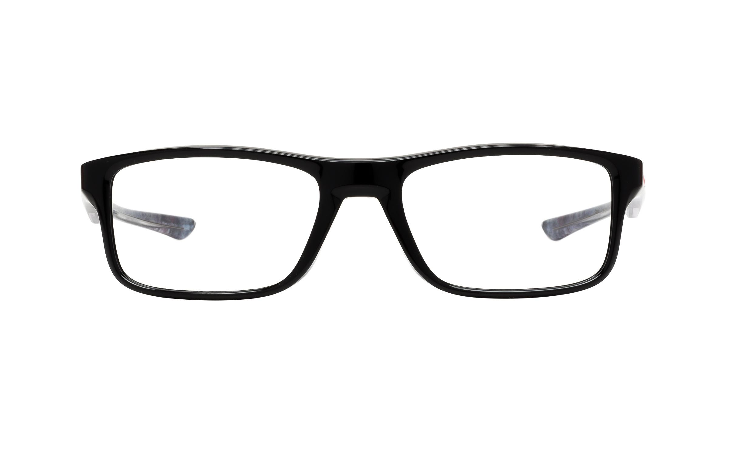 Luxottica Oakley Plank 2.0 OX8081 02 Polished Eyeglasses and Frame in Black | Acetate - Online Coastal