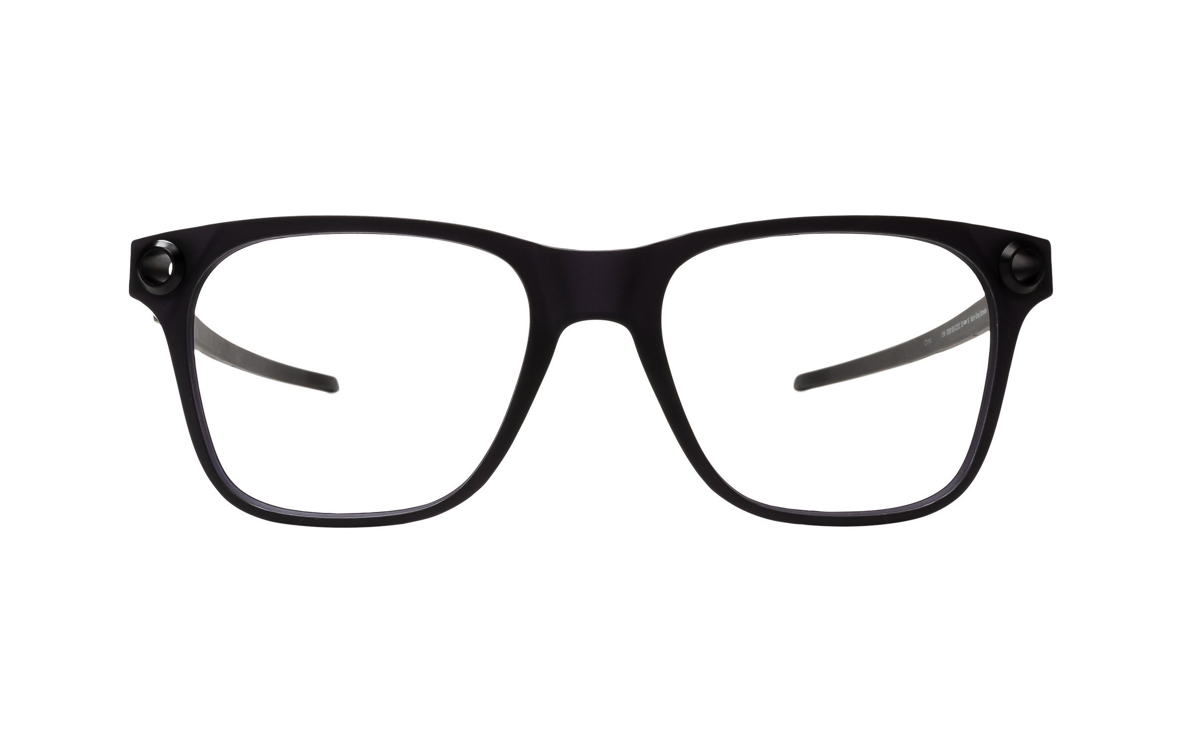 Luxottica Oakley Apparition OX8152 815202 (53) Eyeglasses and Frame in Satin Smoke Black/Grey | Acetate - Online Coastal
