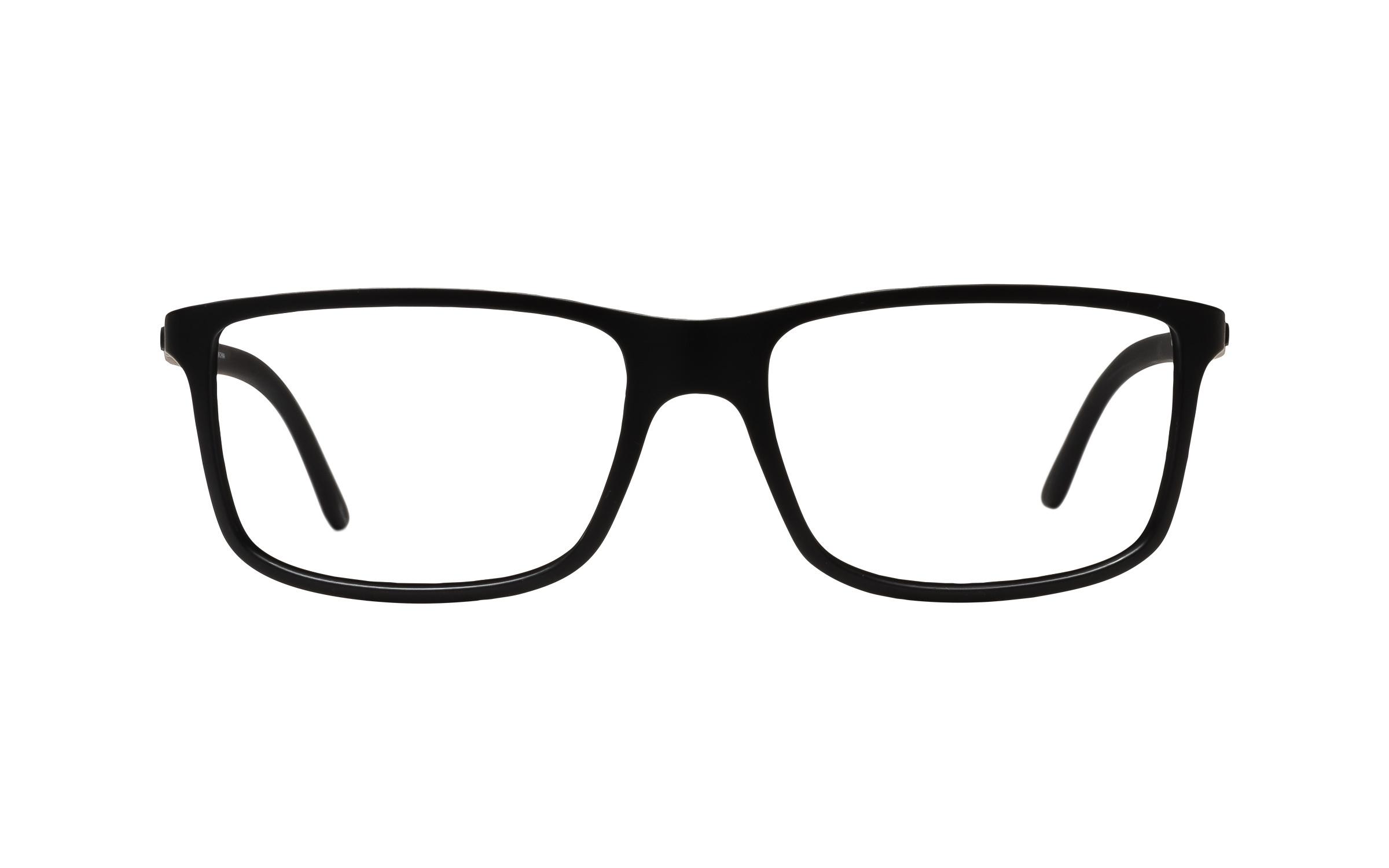 Polo Ralph Lauren PH2126 5505 (55) Eyeglasses and Frame in Matte Black | Acetate - Online Coastal