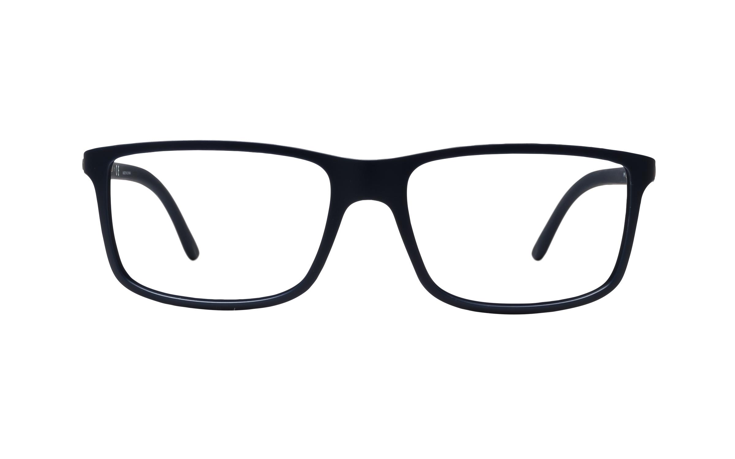 Luxottica Polo Ralph Lauren PH2126 5506 (55) Eyeglasses and Frame in Matte Blue | Acetate - Online Coastal