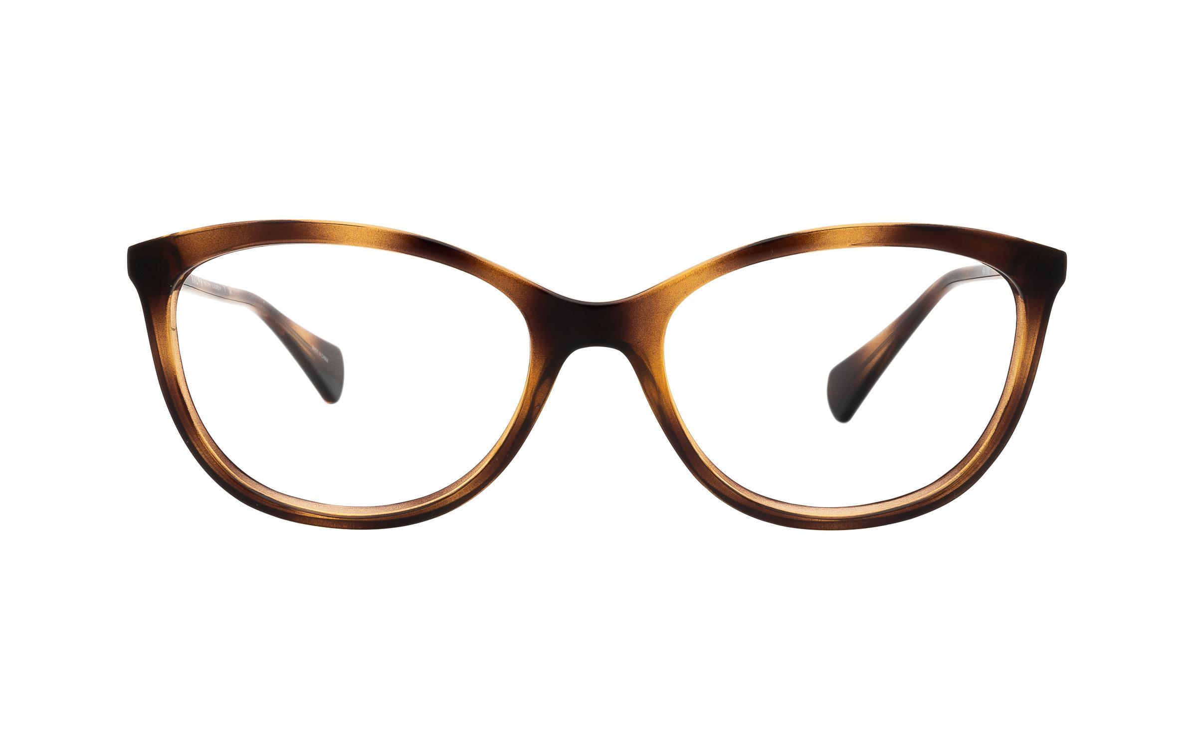 Ralph by Ralph Lauren RA7086 1378 (52) Eyeglasses and Frame in Dark Havana Tortoise/Brown | Acetate/Metal - Online Coastal