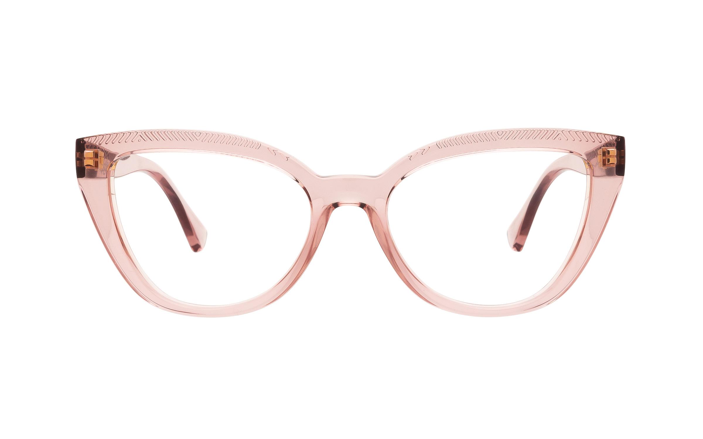 Ralph by Ralph Lauren RA7112 5801 (53) Eyeglasses and Frame in Transparent Pink - Online Coastal