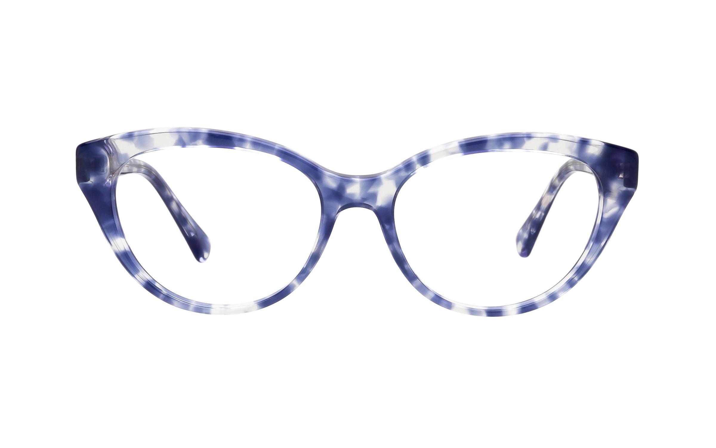 Luxottica Ralph by Ralph Lauren RA7116 5848 (52) Eyeglasses and Frame in Violet Havana Blue/Tortoise | Acetate - Online Coastal
