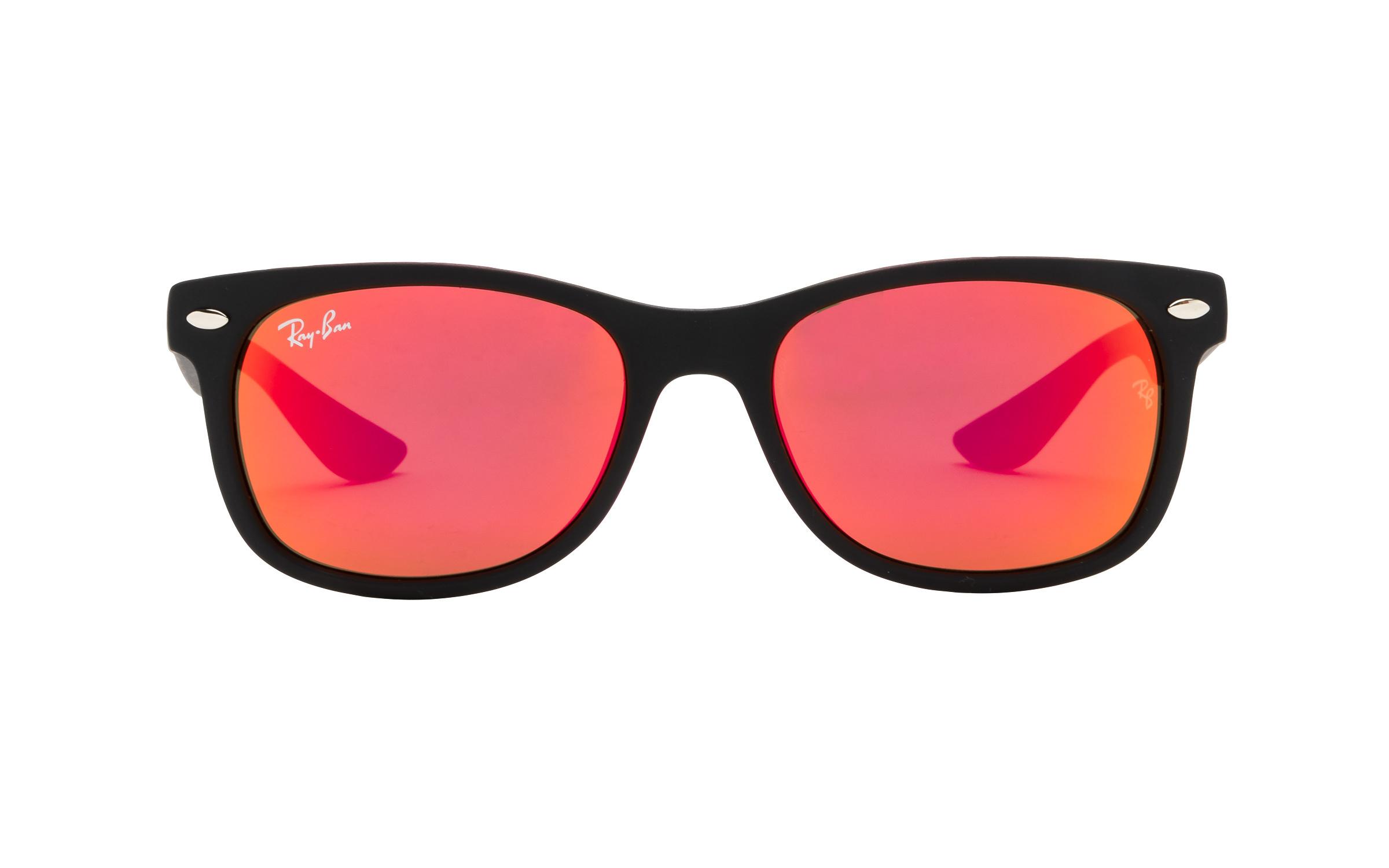 Luxottica Ray-Ban Wayfarer Junior RJ9052S 100S6Q 47 Sunglasses in Matte Black | Plastic/Metal - Online Coastal