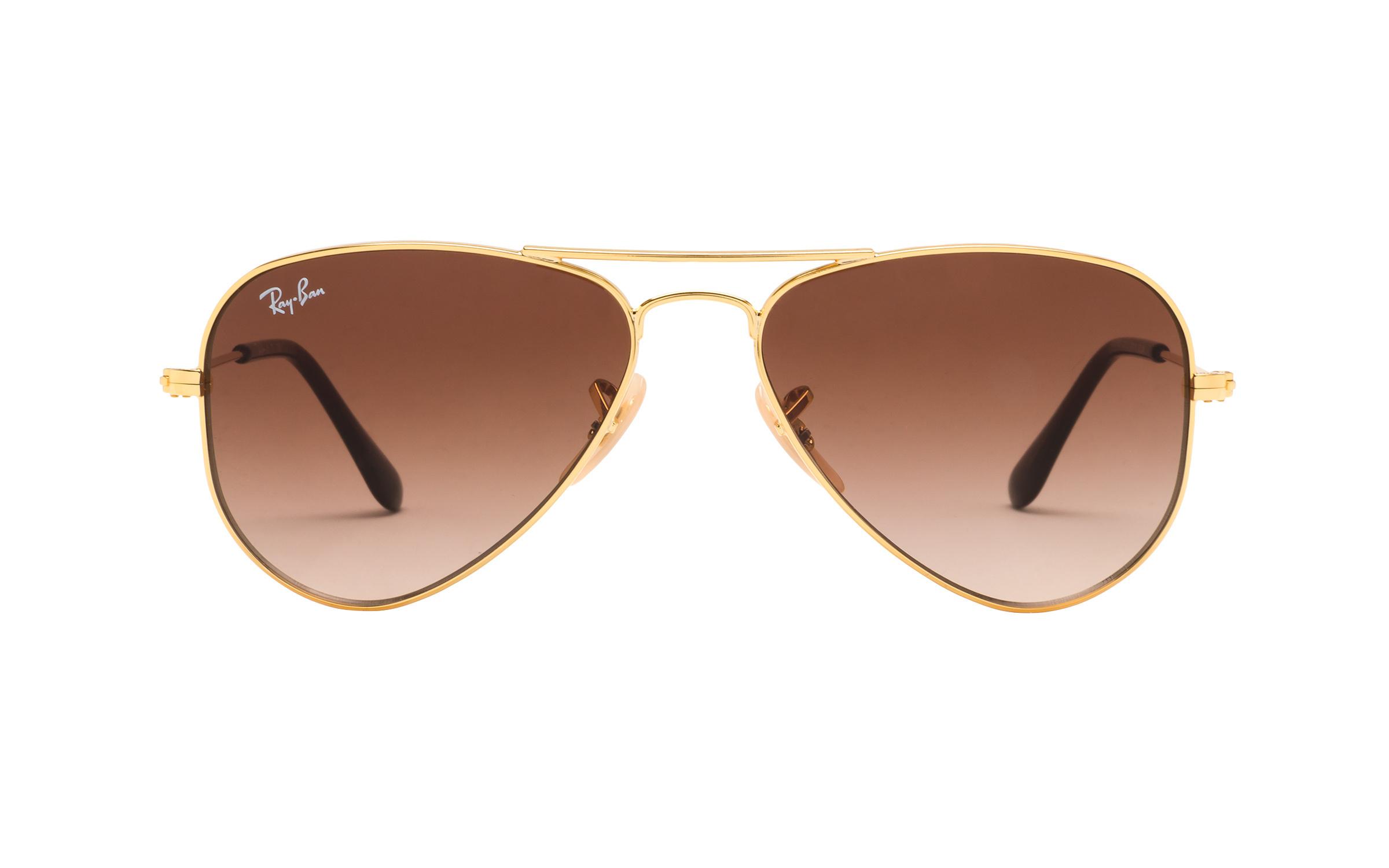 http://www.coastal.com/ - Luxottica Ray-Ban Junior RJ9506S 223 13 52 Sunglasses in Gold | Plastic/Metal – Online Coastal