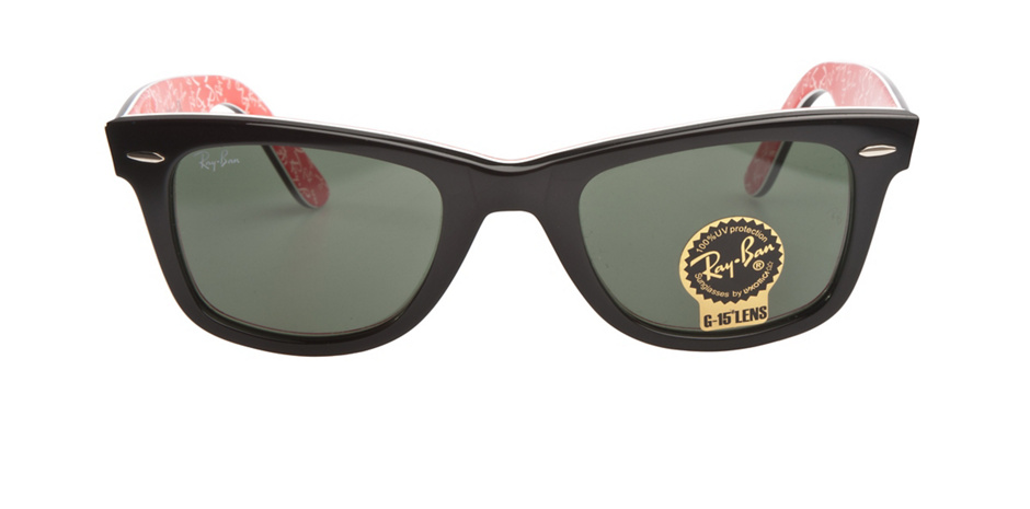 product image of Ray-Ban Original Wayfarer Black On Red White