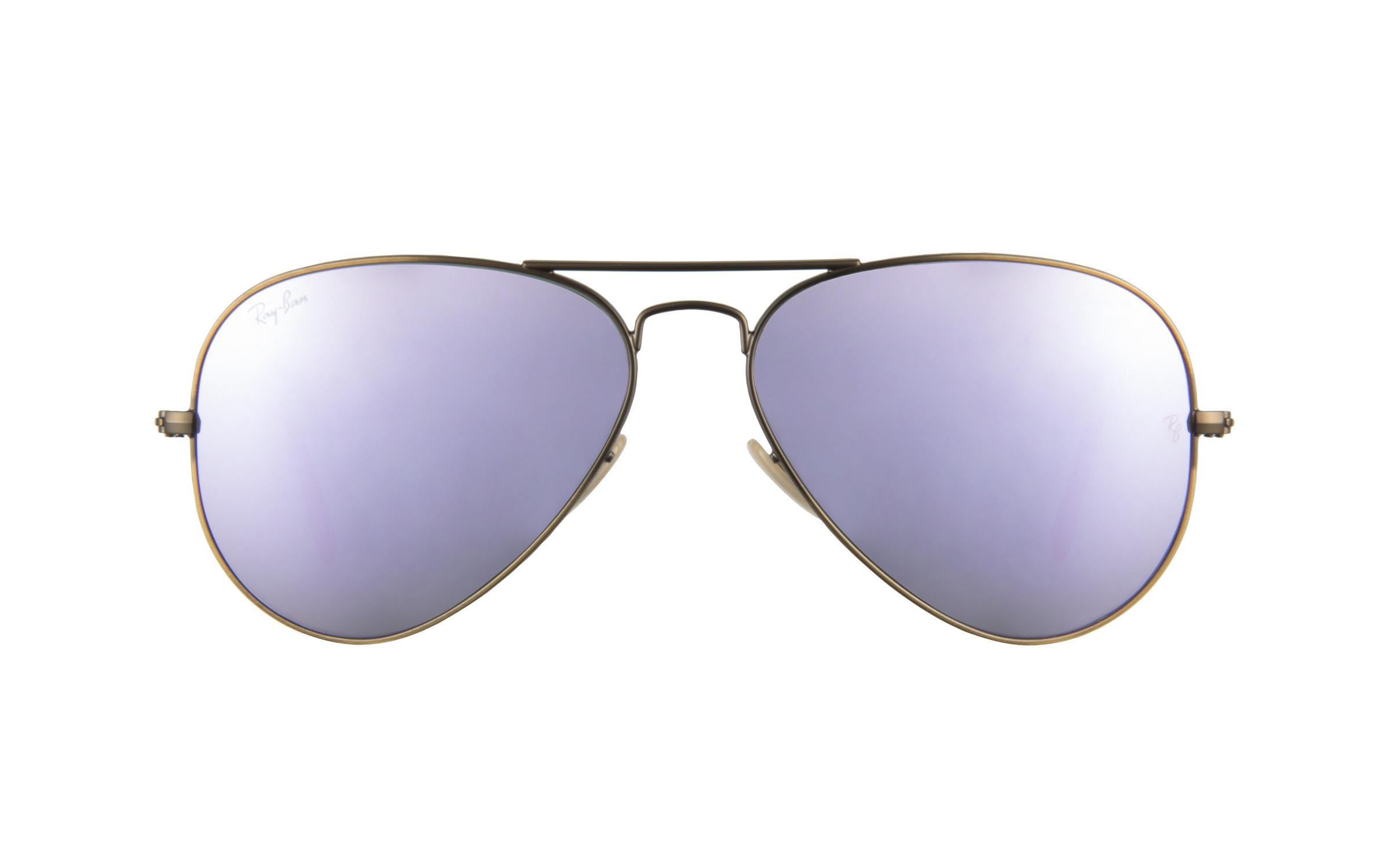 Ray-Ban 3025 167 4K Lilac Mirror 58 Sunglasses
