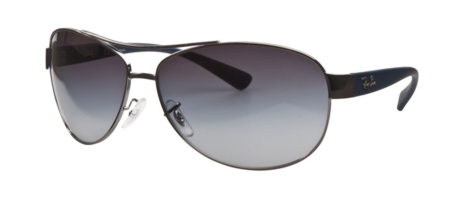 product image of Ray-Ban RB3386 Gunmetal Blue Rubber